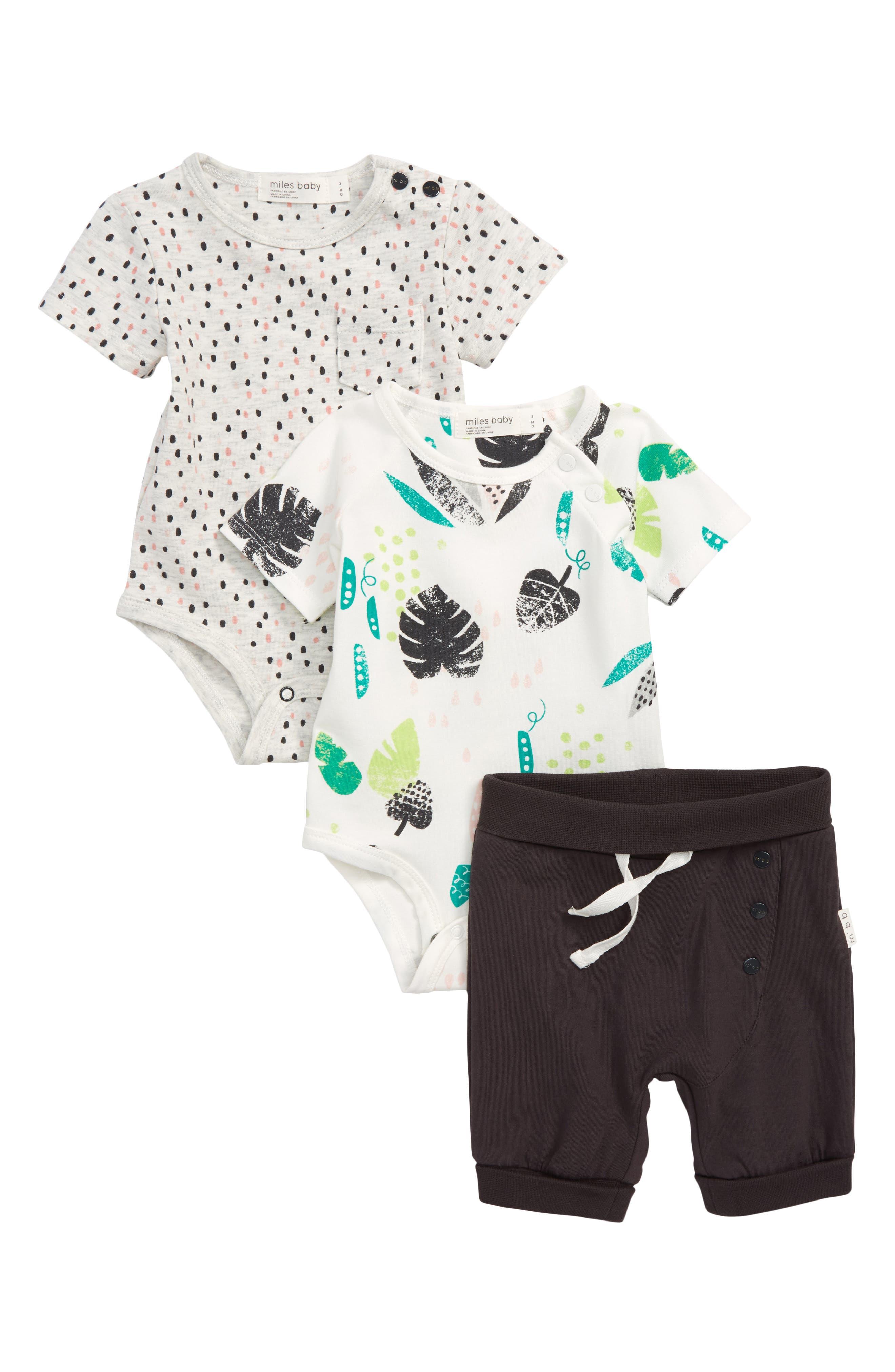 3-Piece Bodysuits & Shorts Set,                         Main,                         color, 900