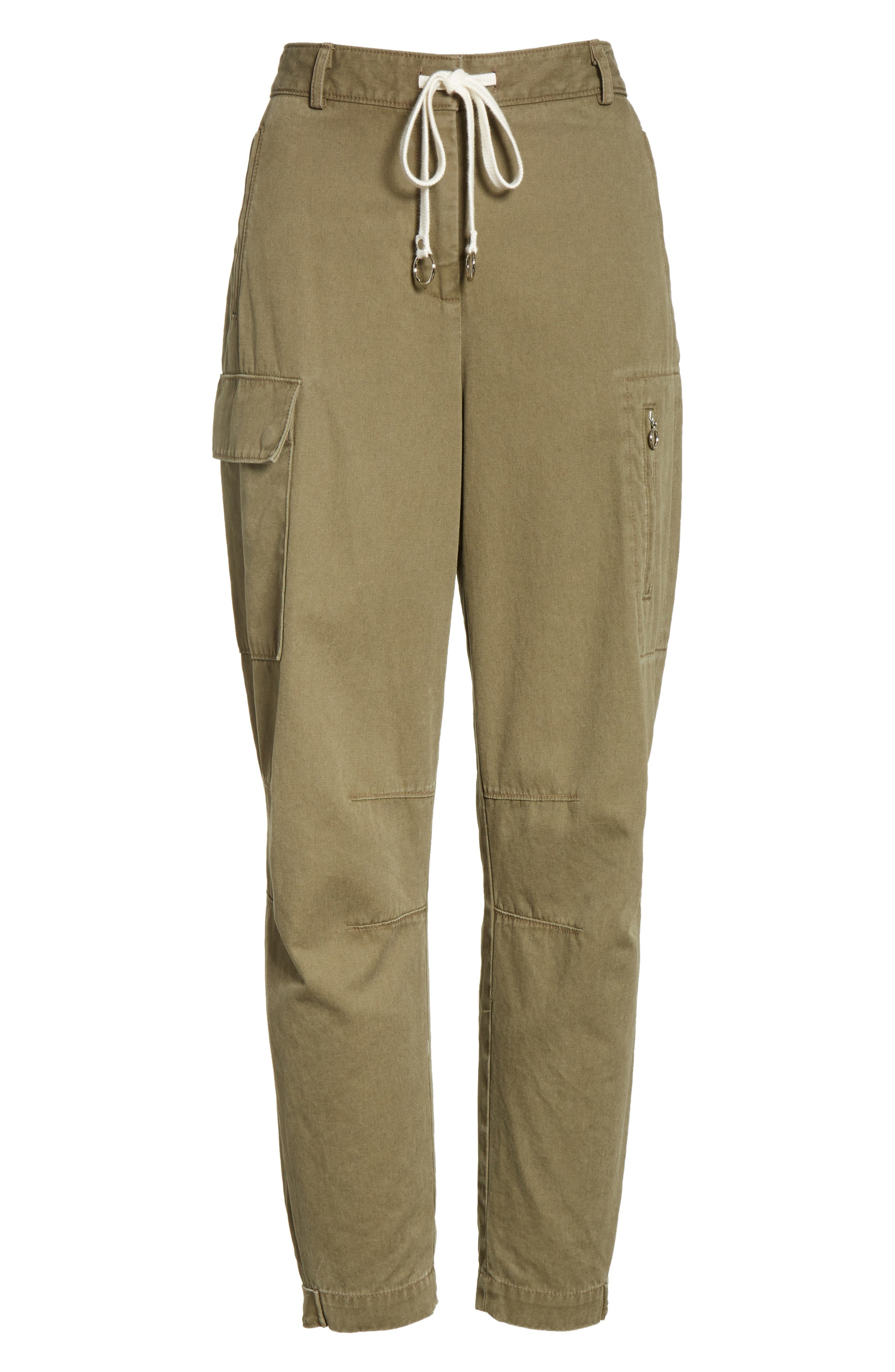 T by Alexander Wang Twill Cargo Pants,                             Alternate thumbnail 6, color,                             309