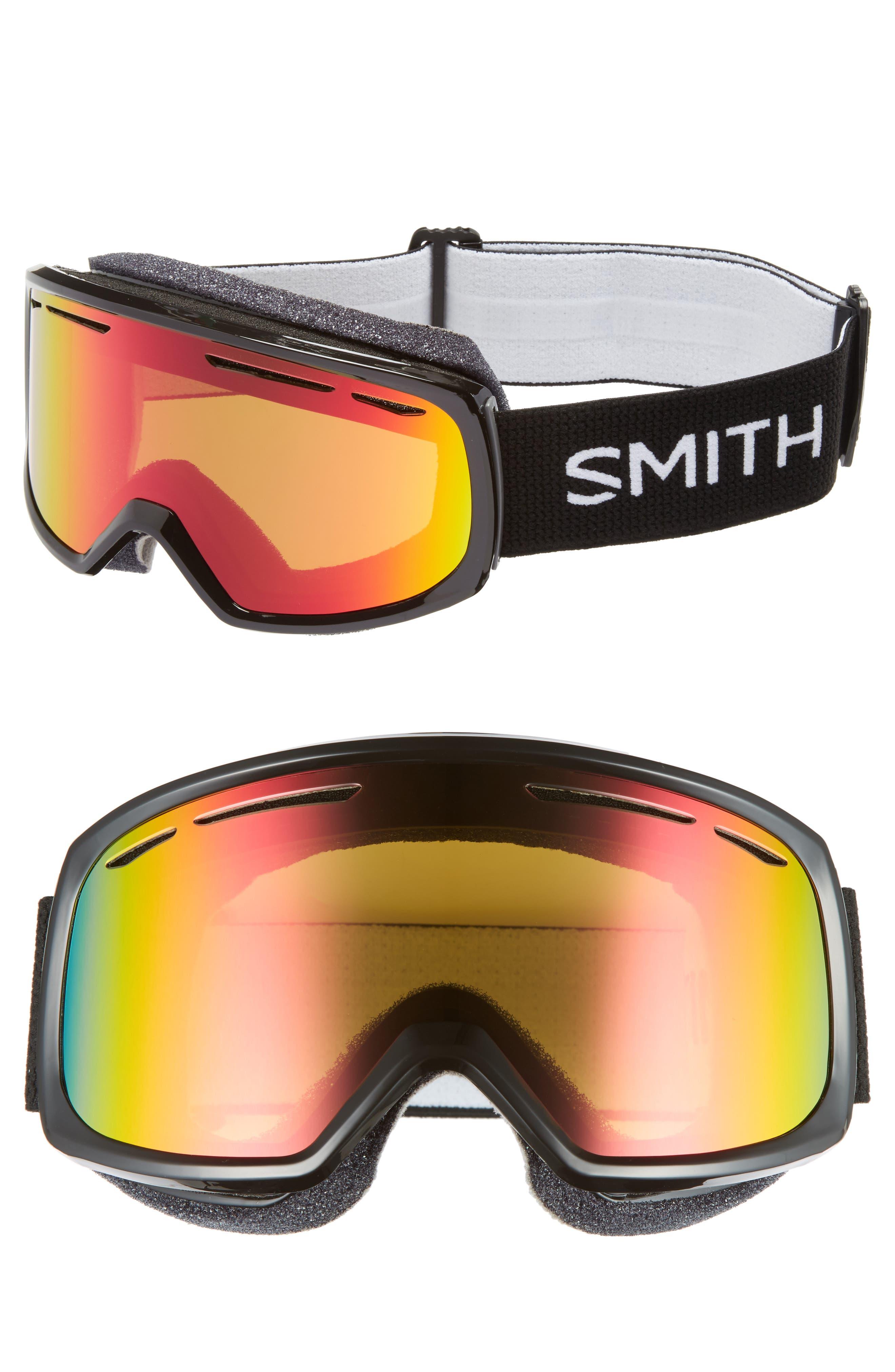 Drift Snow Goggles,                         Main,                         color, BLACK/ MIRROR