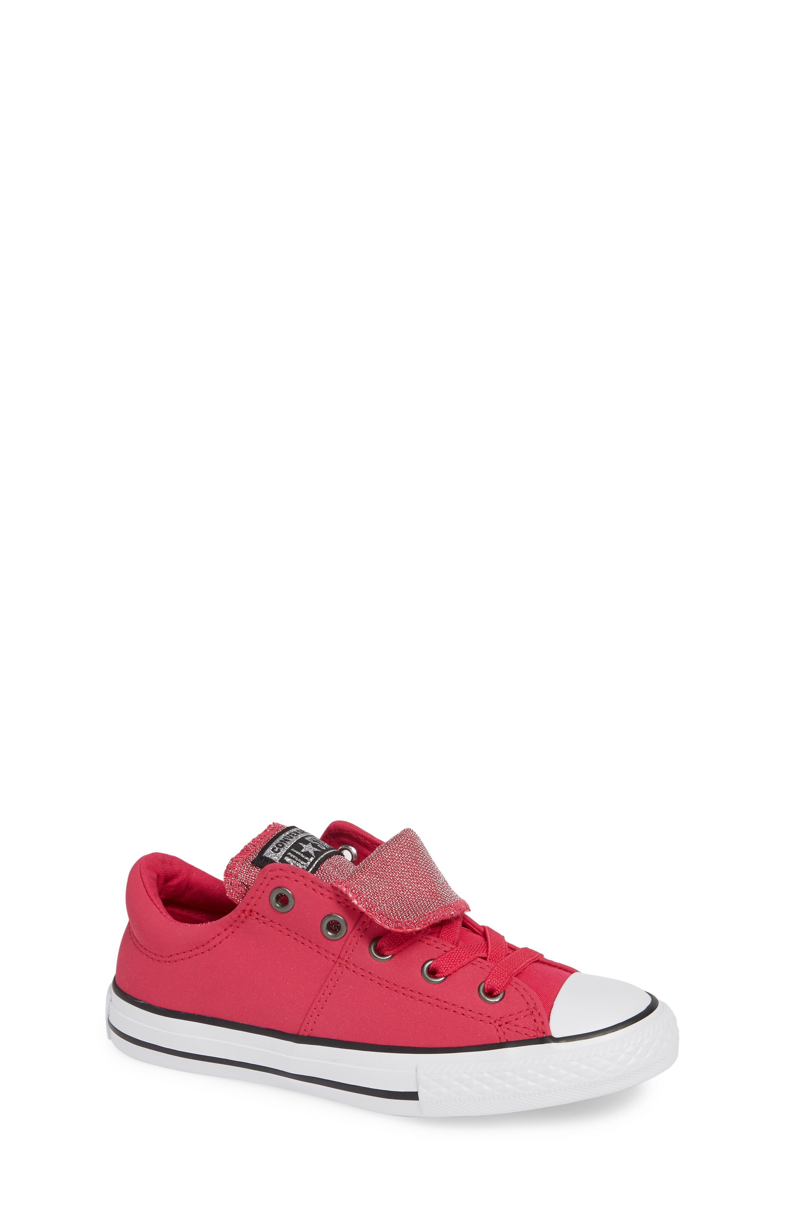 Girls Converse Chuck Taylor All Star Glitter Low Top Sneaker Size 125 M  Pink