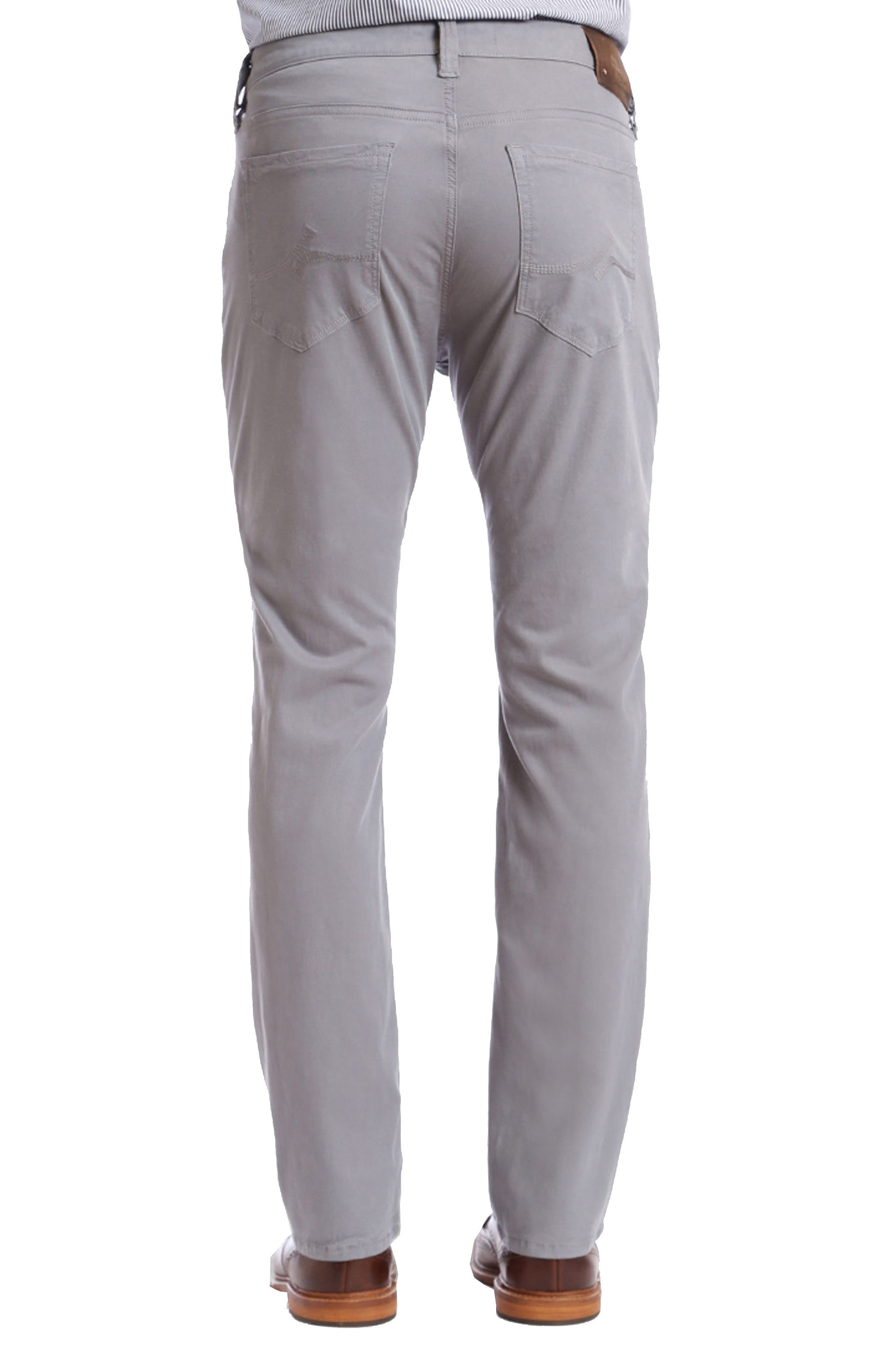 Courage Straight Leg Twill Pants,                             Alternate thumbnail 2, color,                             GREY FINE TWILL