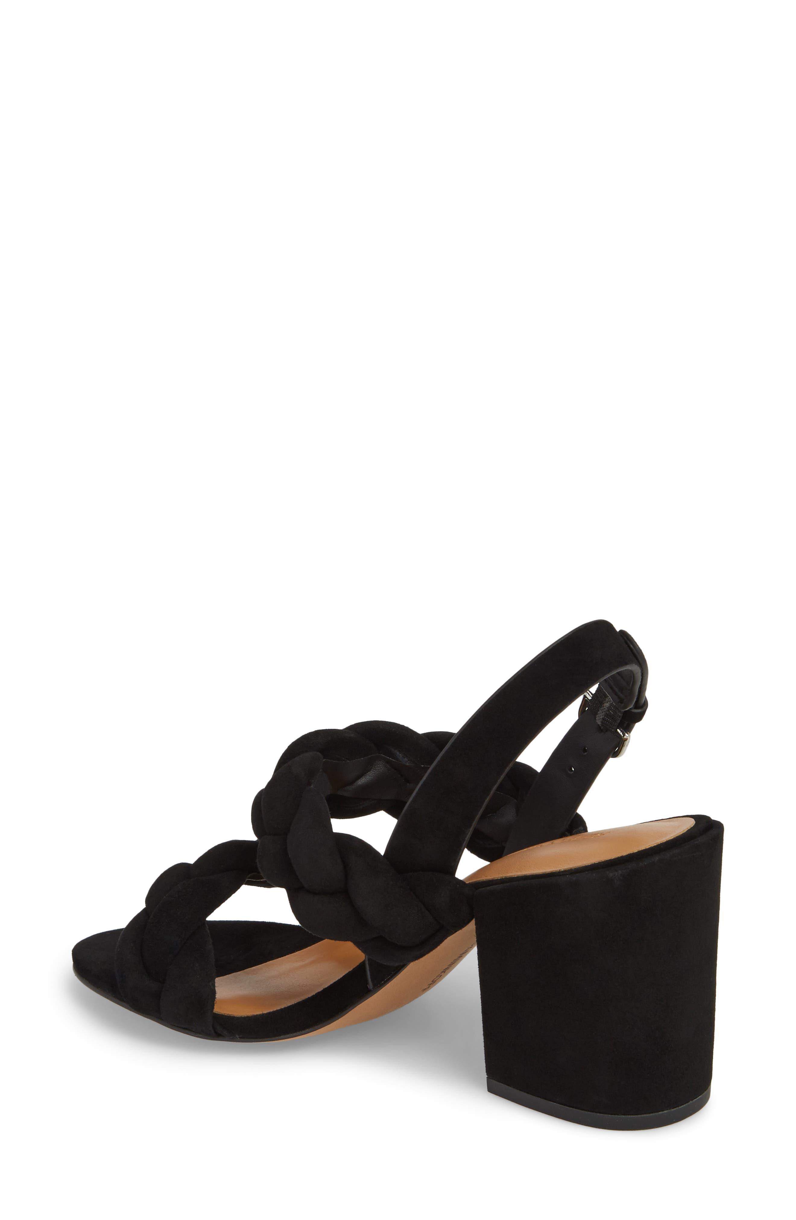 Candance Block Heel Sandal,                             Alternate thumbnail 2, color,                             BLACK LEATHER