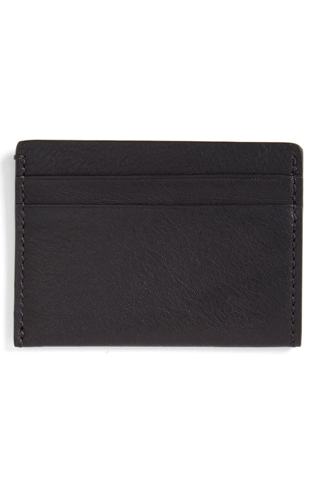 BOSCA,                             Leather Card Case,                             Alternate thumbnail 2, color,                             BLACK