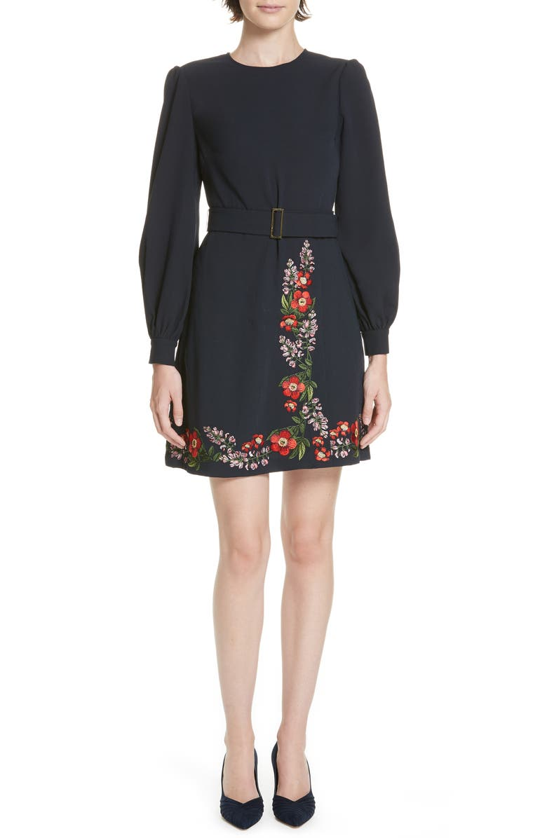 TED BAKER SILIA KIRSTENBOSCH EMBROIDERED DRESS