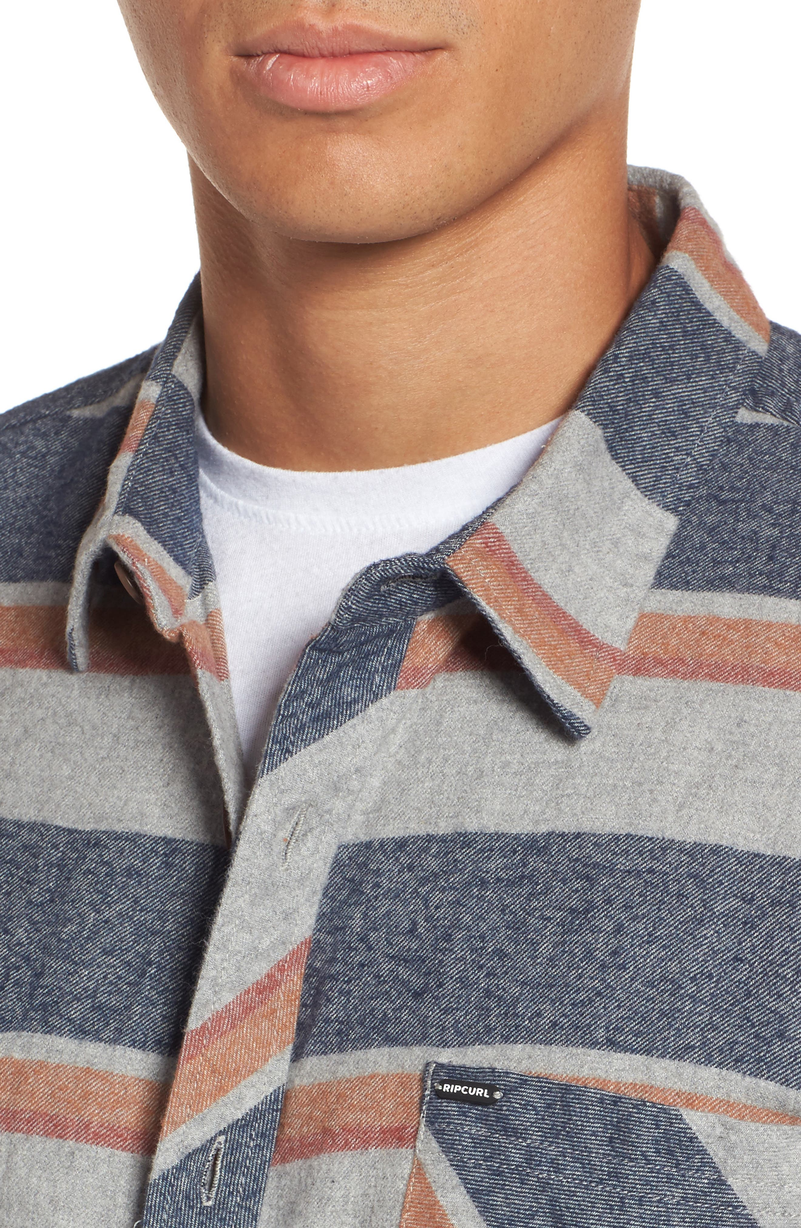 Seager Flannel Shirt,                             Alternate thumbnail 8, color,