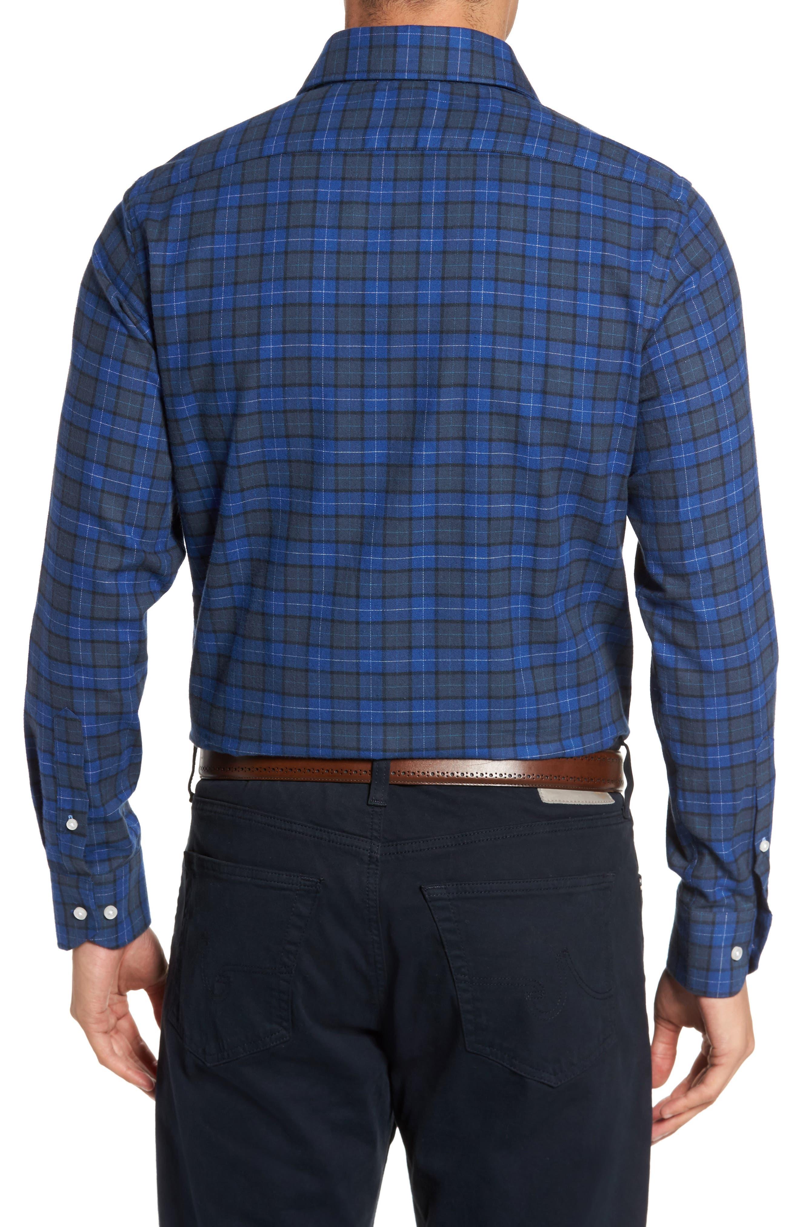 Cankton Plaid Sport Shirt,                             Alternate thumbnail 2, color,                             400