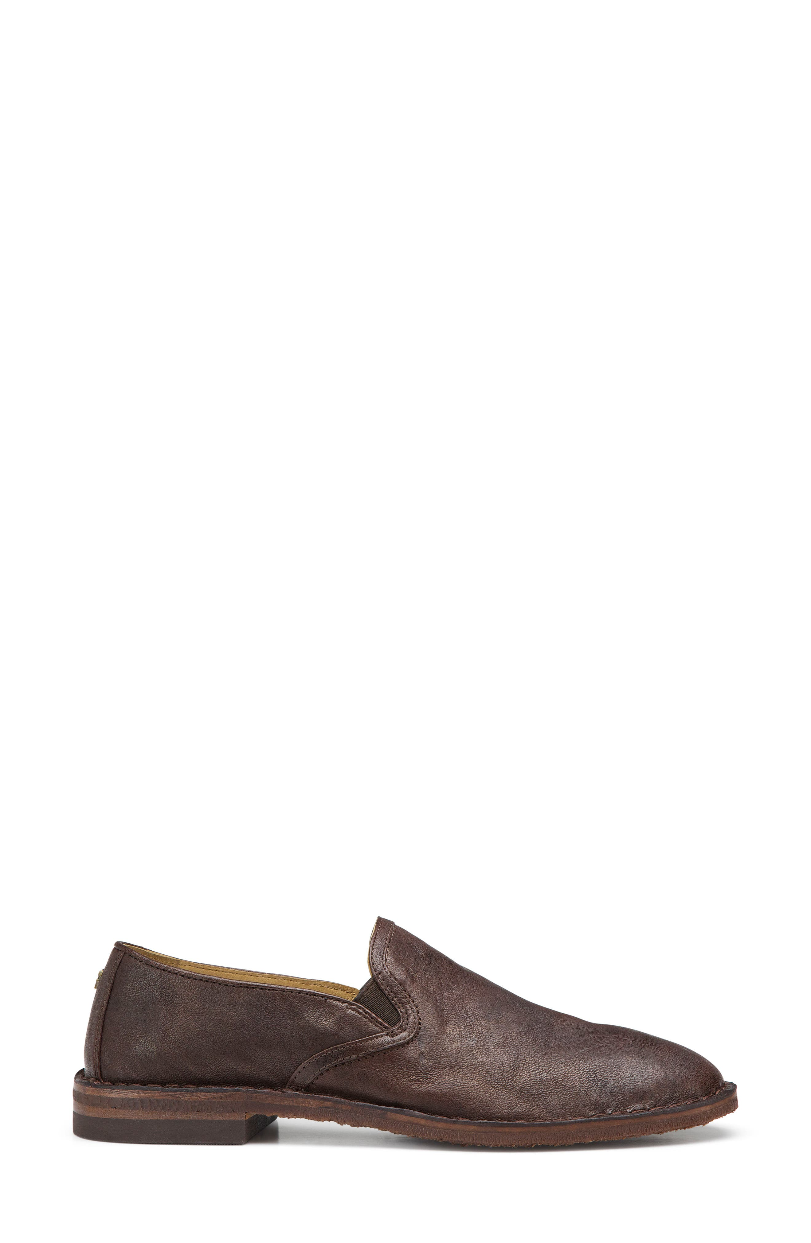 'Ali' Flat,                             Alternate thumbnail 3, color,                             BROWN LEATHER