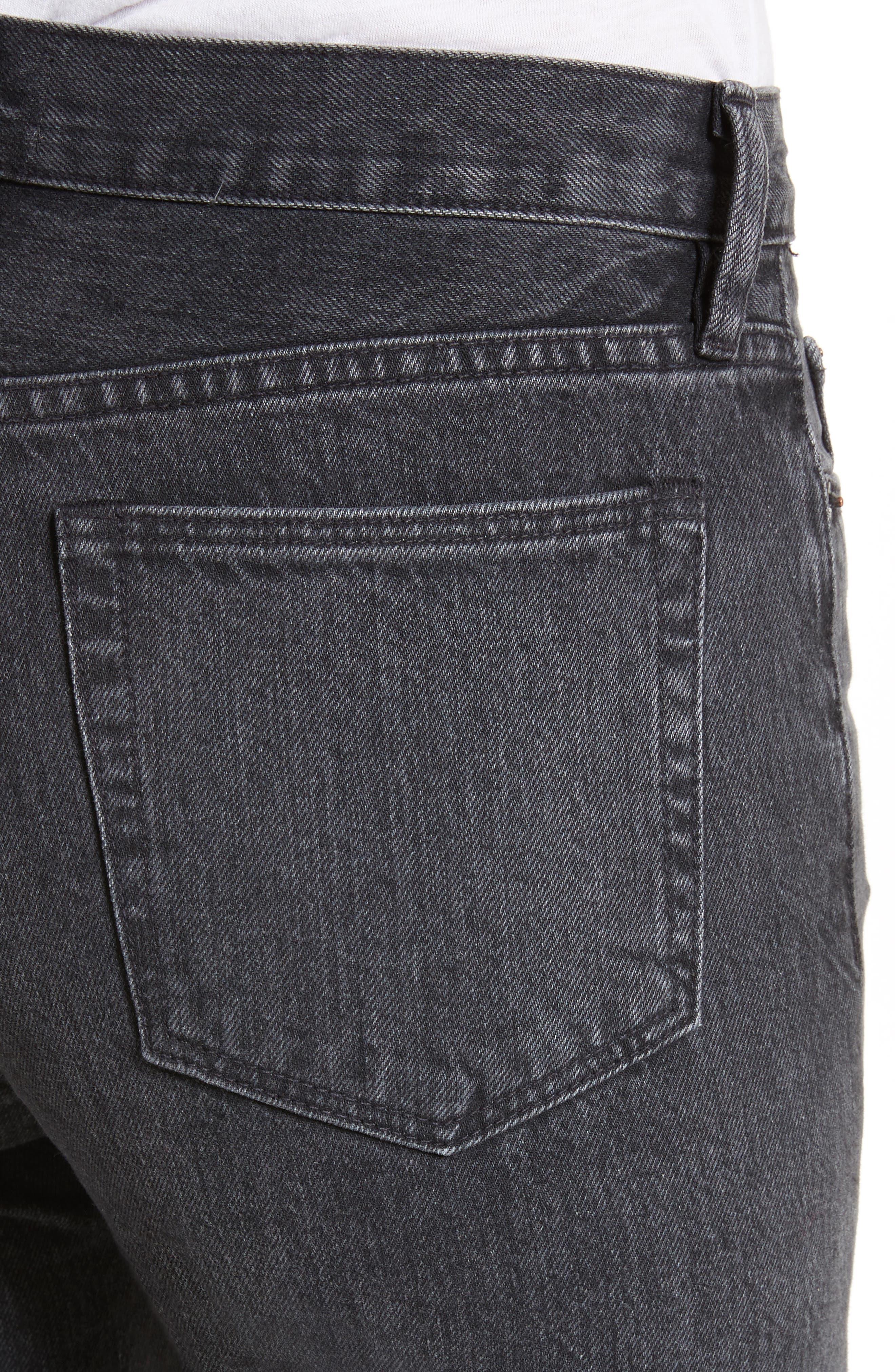 Tilson Crop Frayed Wide Leg Jeans,                             Alternate thumbnail 4, color,                             001
