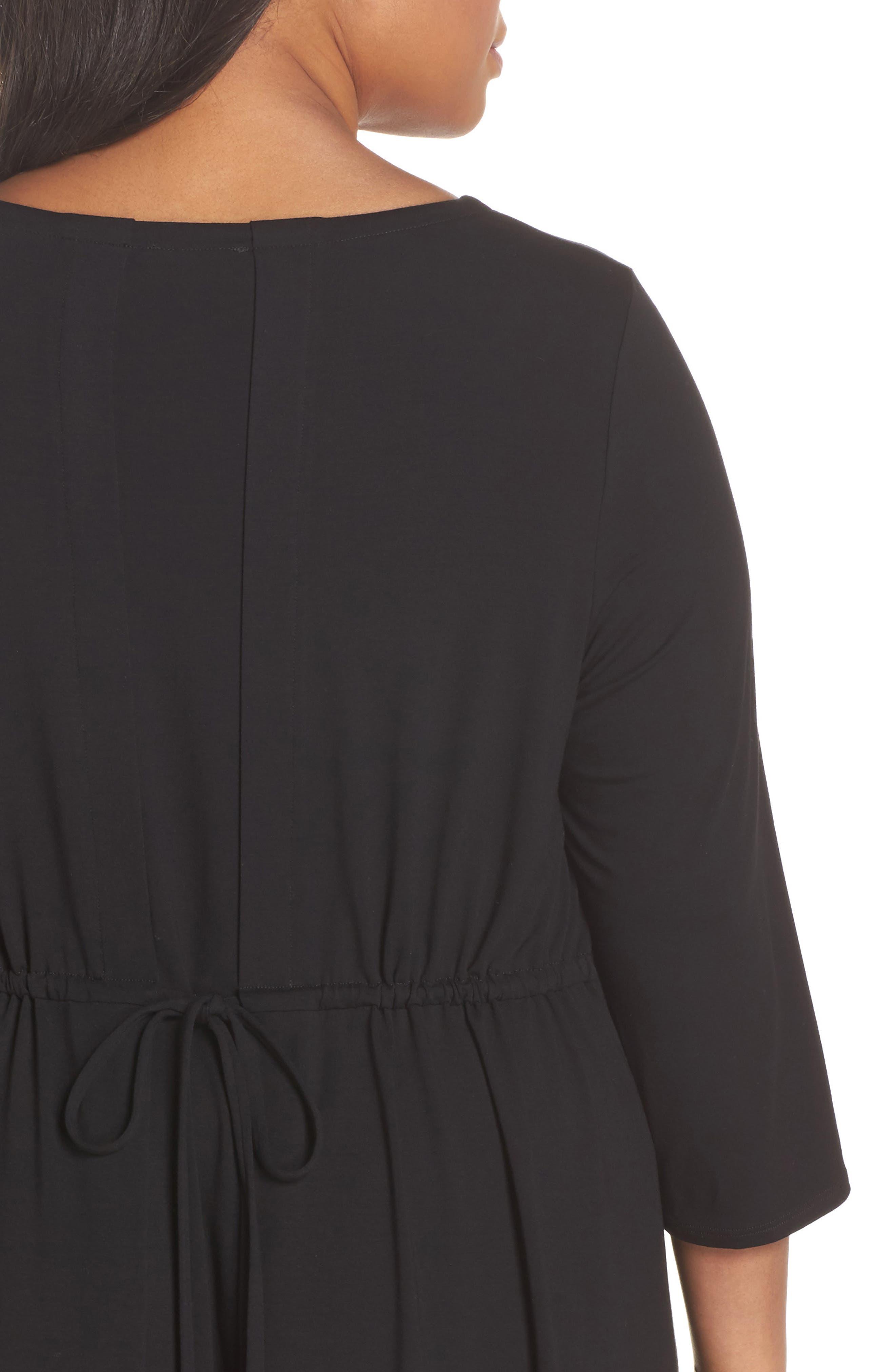 Jewel Neck Tie Back Dress,                             Alternate thumbnail 16, color,
