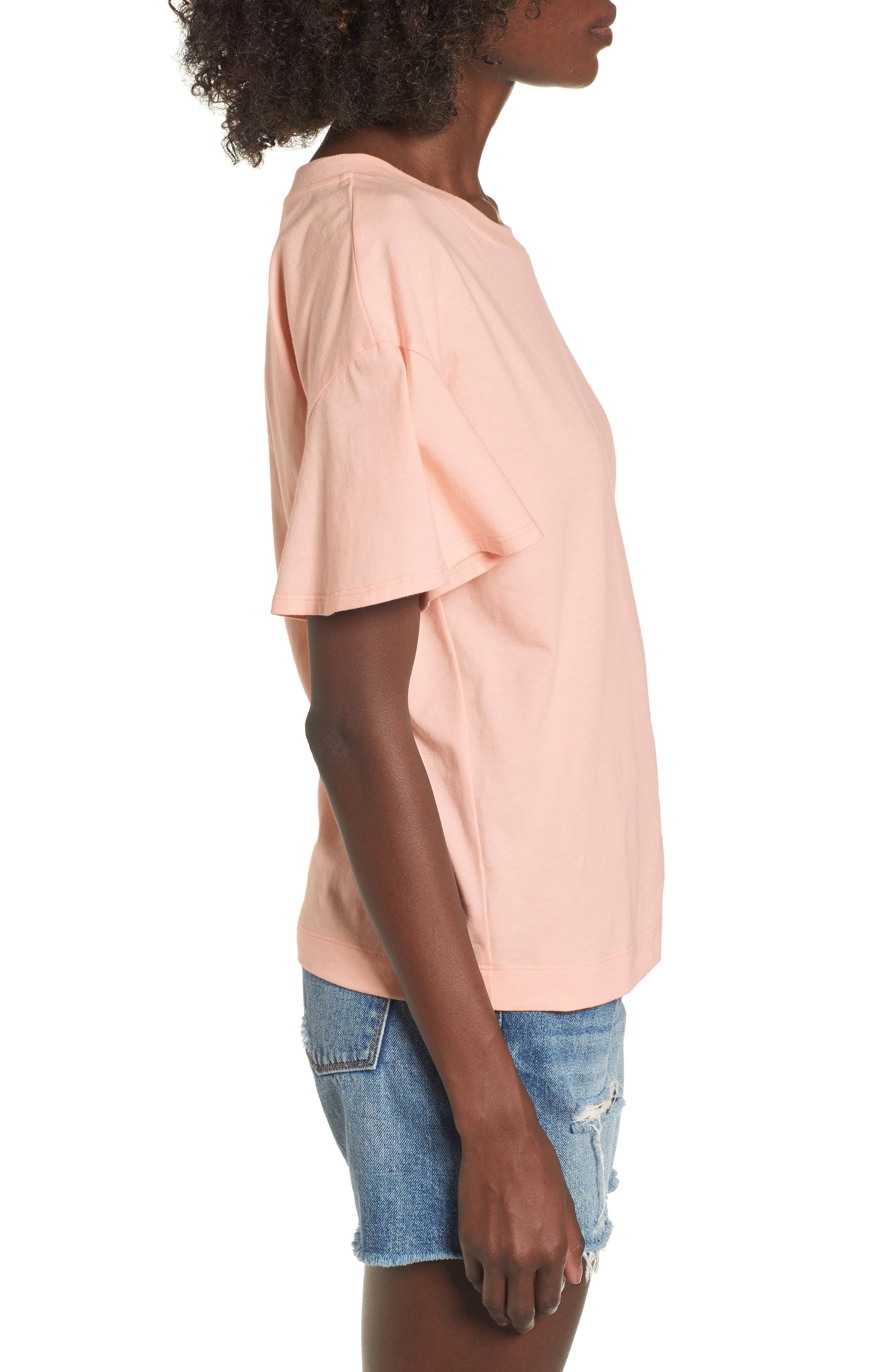 Flutter Sleeve Tee,                             Alternate thumbnail 9, color,