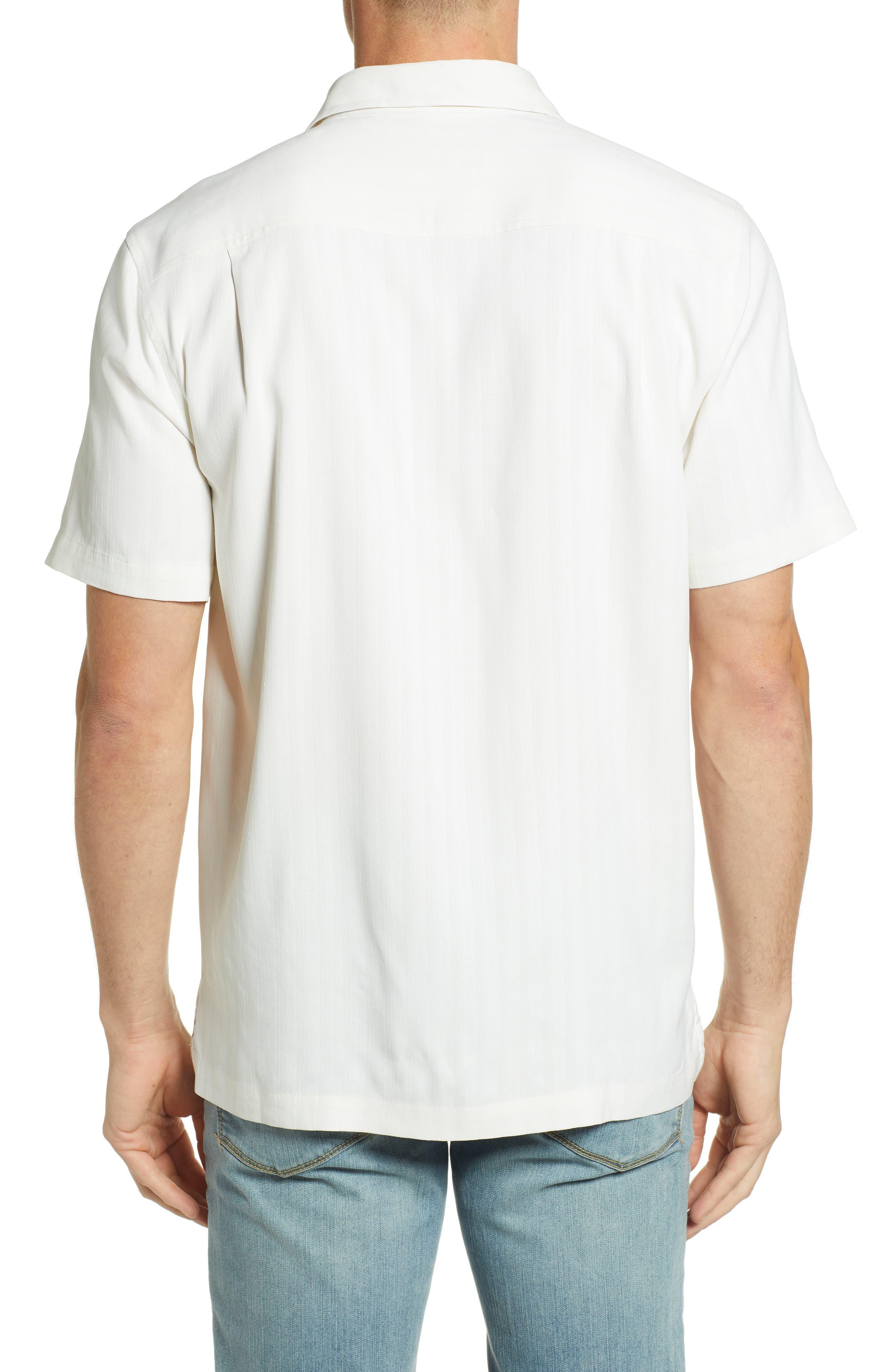 Las Playas Palms Silk Camp Shirt,                             Alternate thumbnail 2, color,                             TWILL