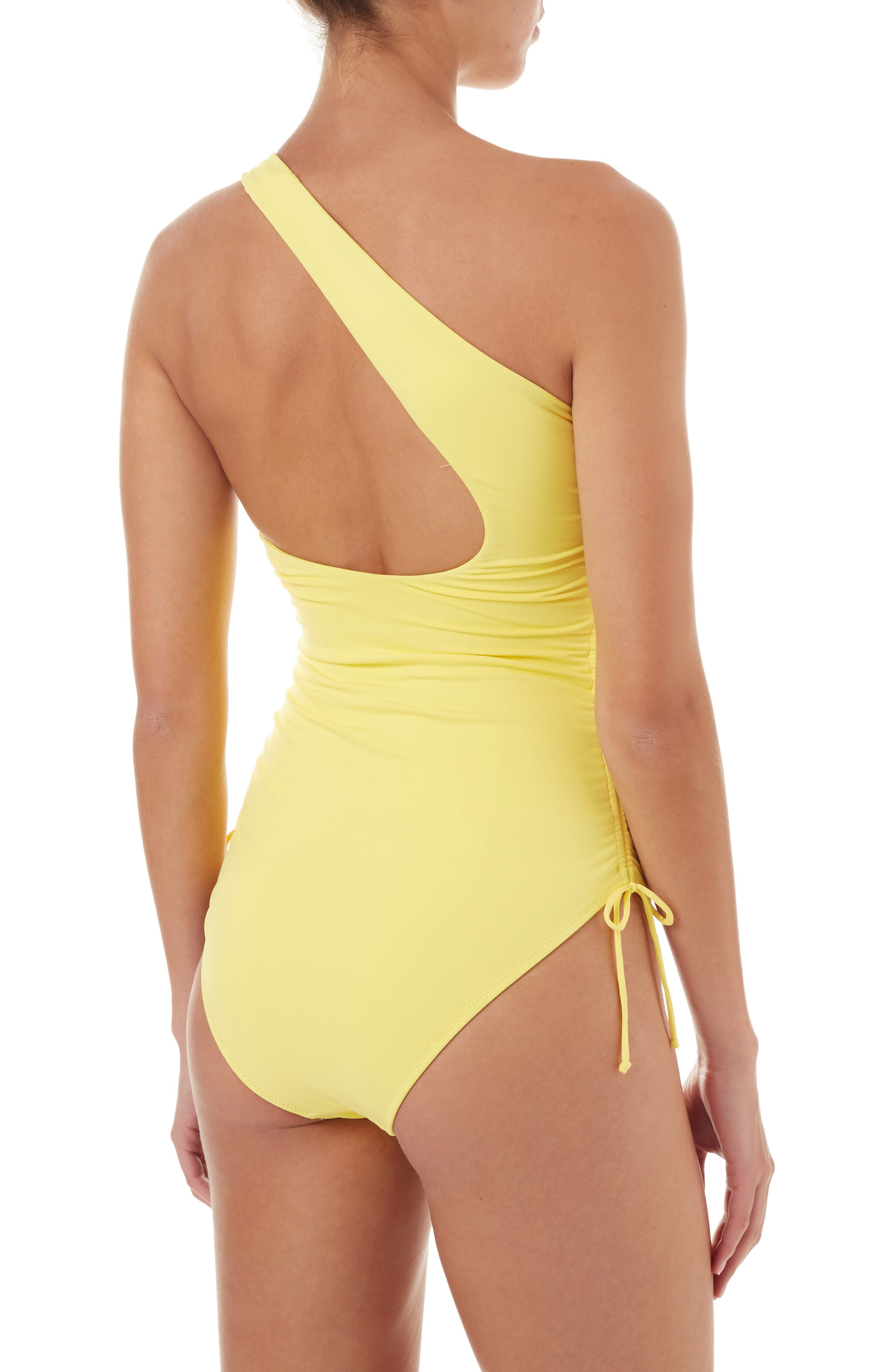 Polynesia One-Strap One-Piece Swimsuit,                             Alternate thumbnail 2, color,                             YELLOW
