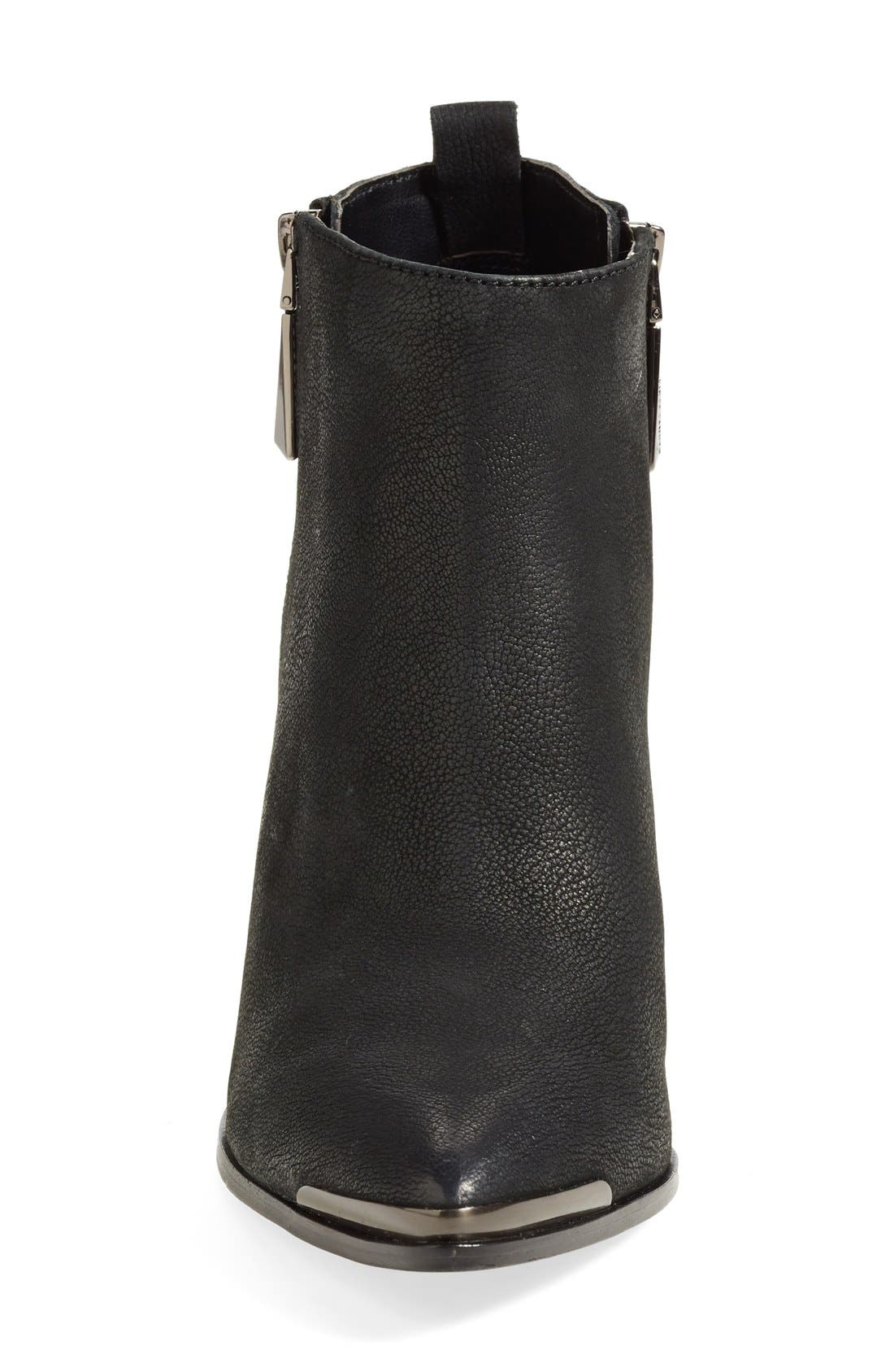 'Amori' Pointy Toe Leather Bootie,                             Alternate thumbnail 5, color,                             003
