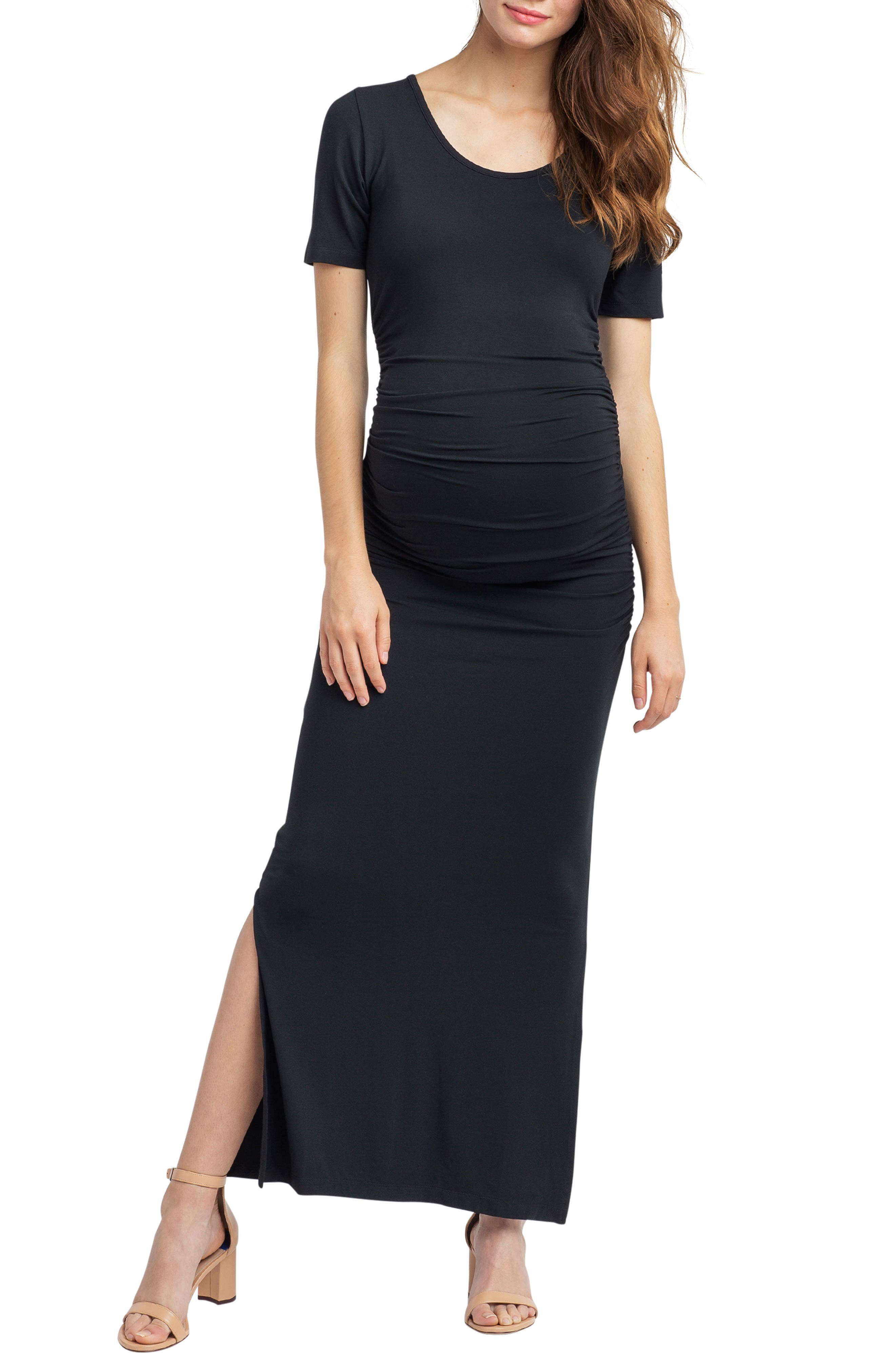 Nom Maternity Hugo Maxi Maternity Dress, Black