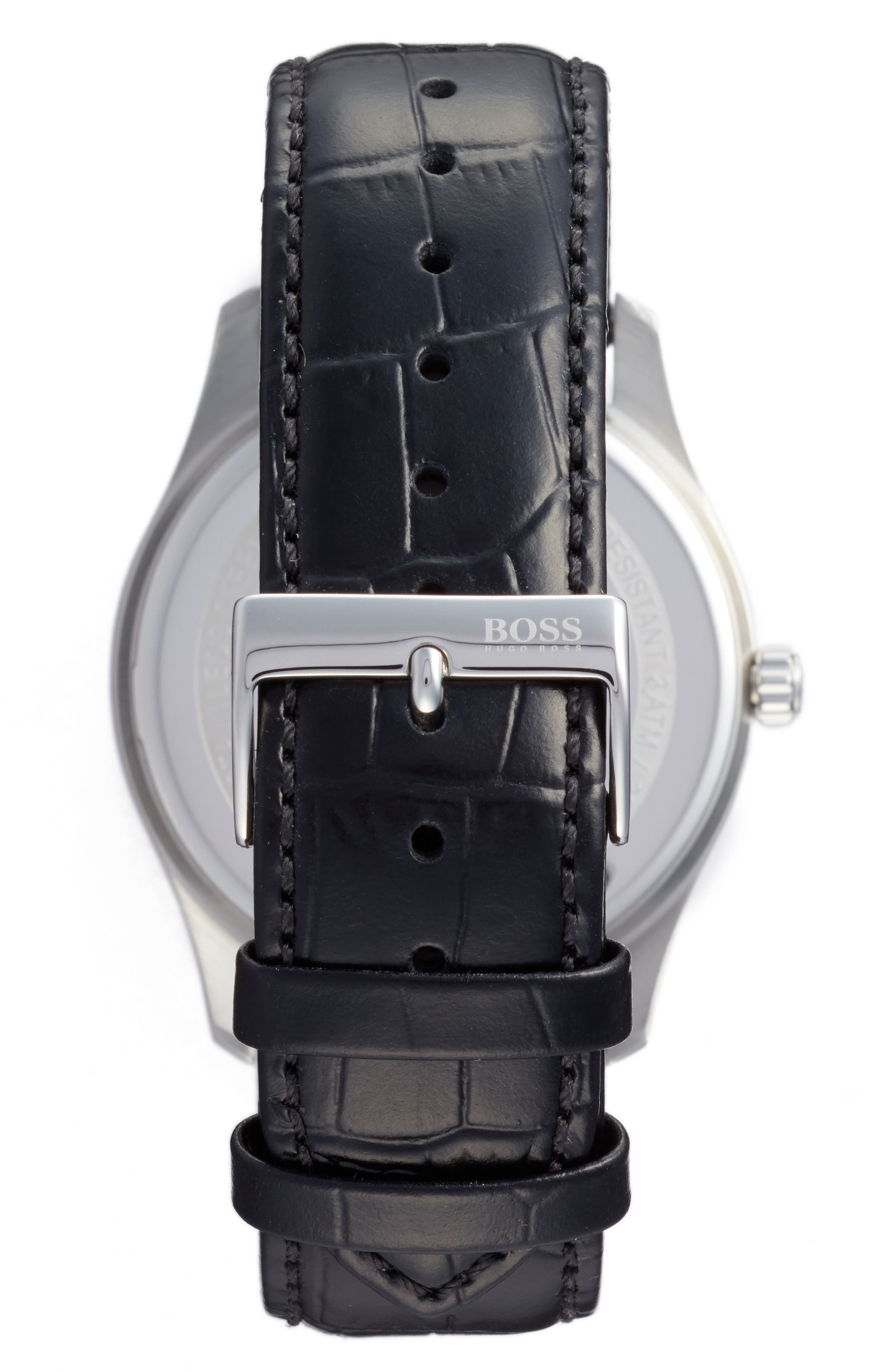 Commander Multifunction Leather Strap Watch, 41mm,                             Alternate thumbnail 2, color,                             460