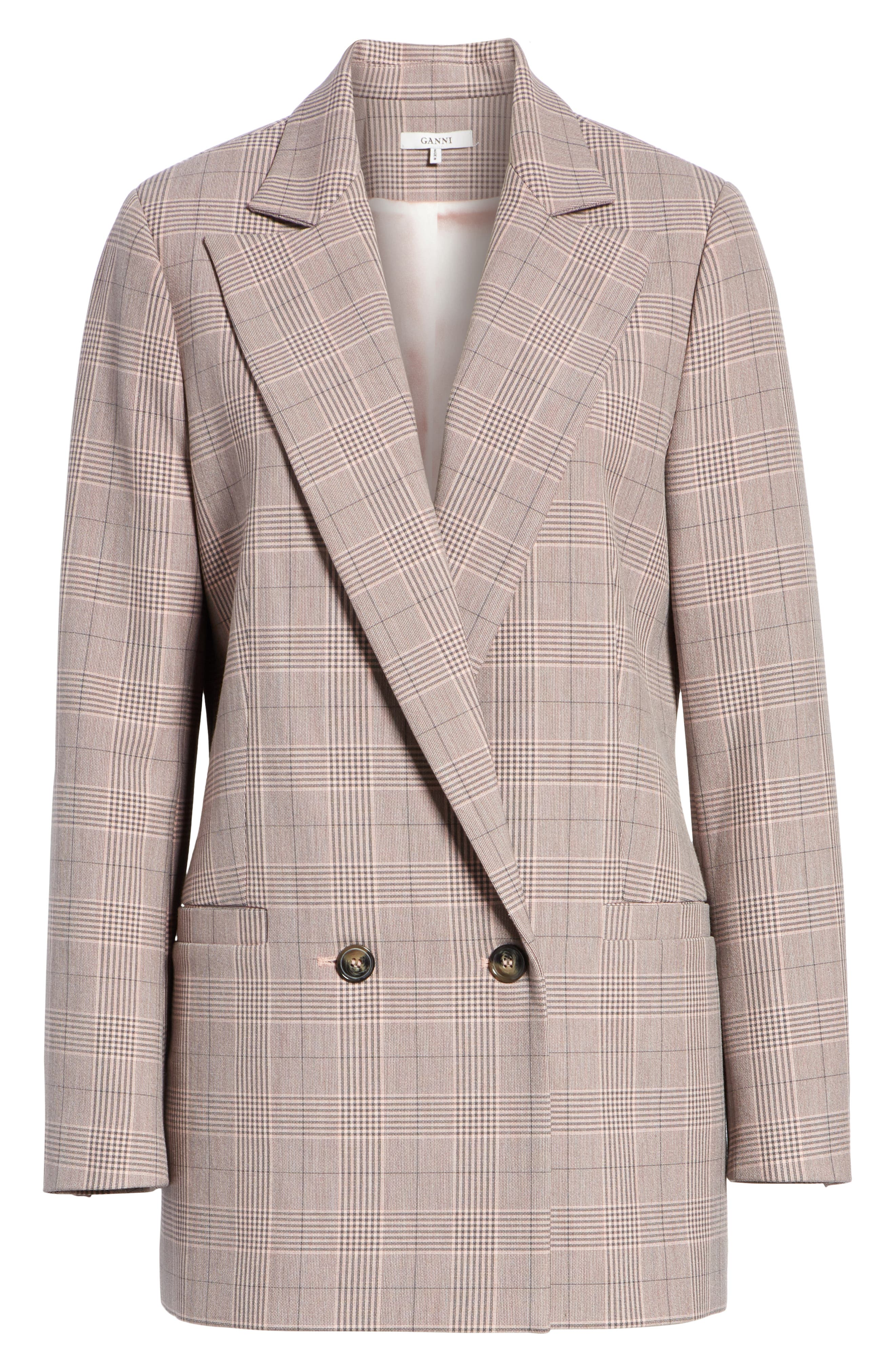 Suiting Blazer,                             Alternate thumbnail 5, color,                             SILVER PINK 499