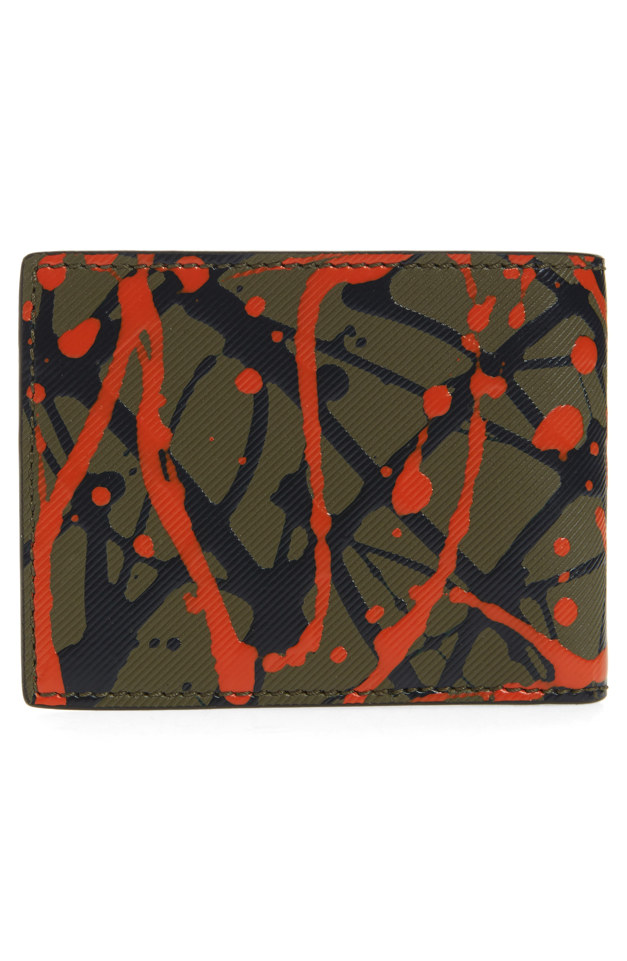 Trench Splash Leather Wallet,                             Alternate thumbnail 6, color,