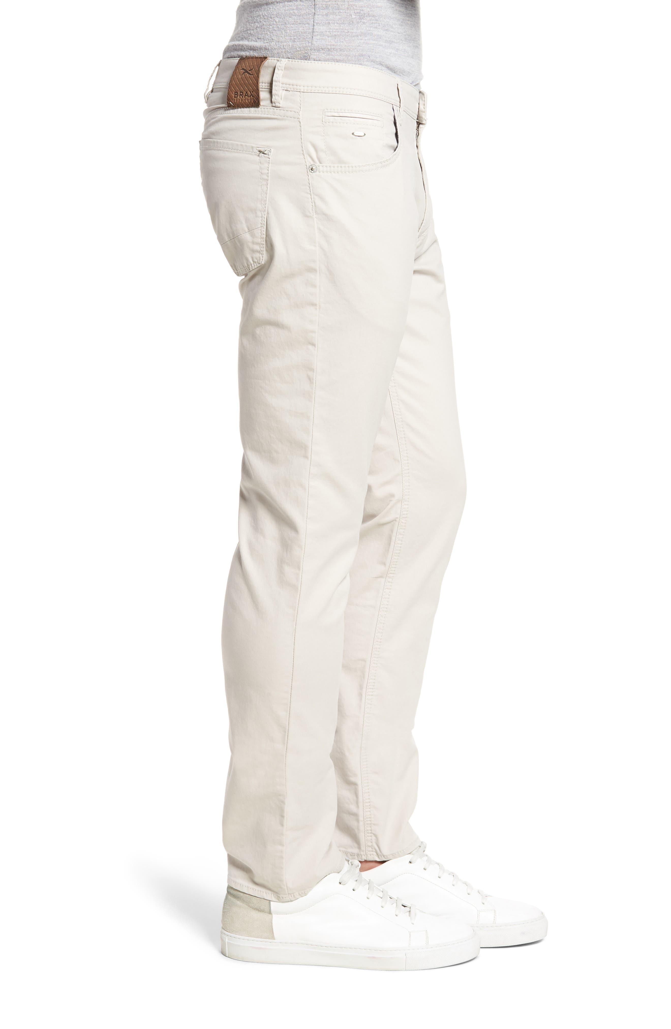 Chuck Flat Front Stretch Cotton Pants,                             Alternate thumbnail 3, color,                             250