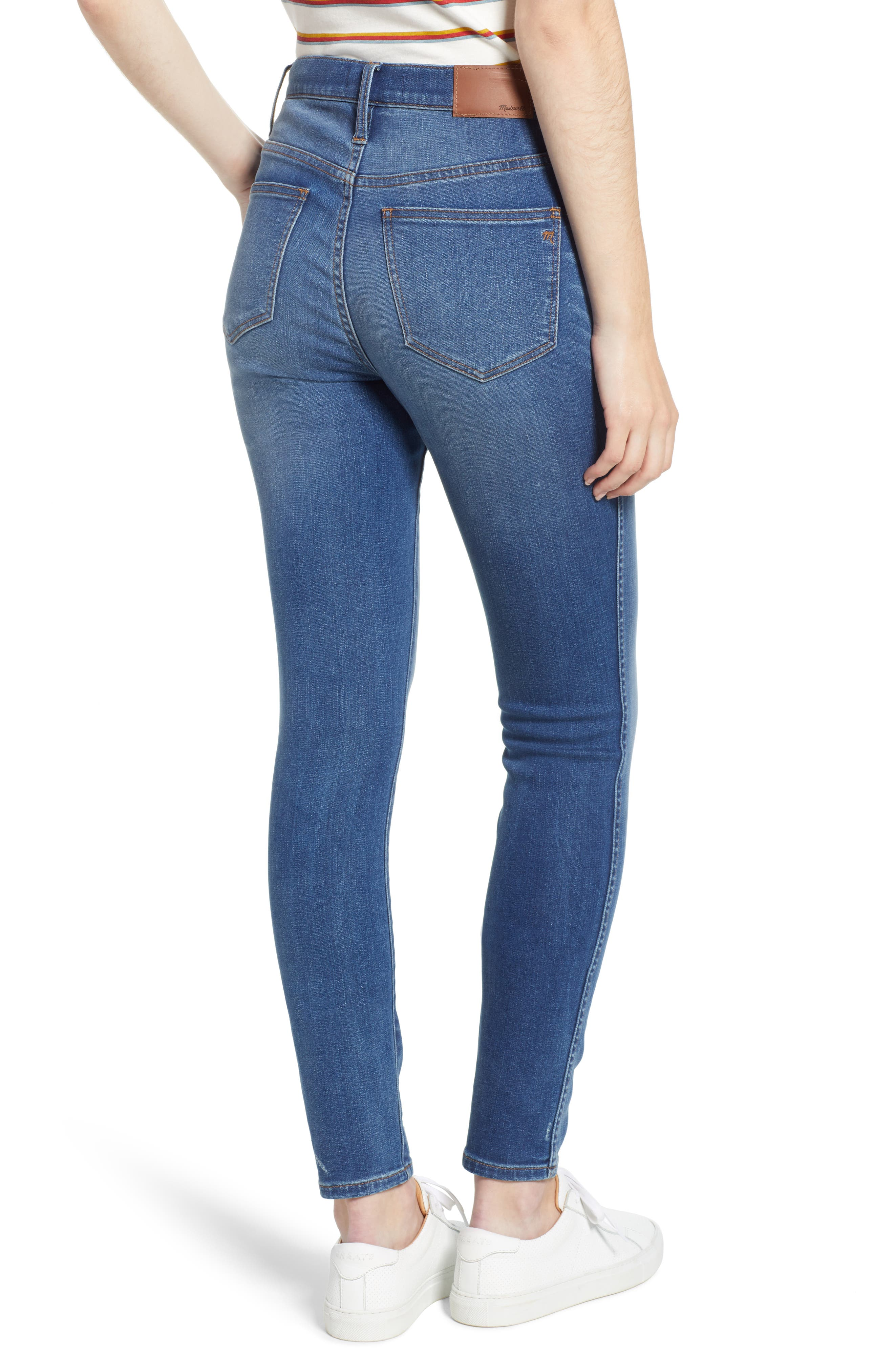 10-Inch High Waist Skinny Jeans,                             Alternate thumbnail 2, color,                             400