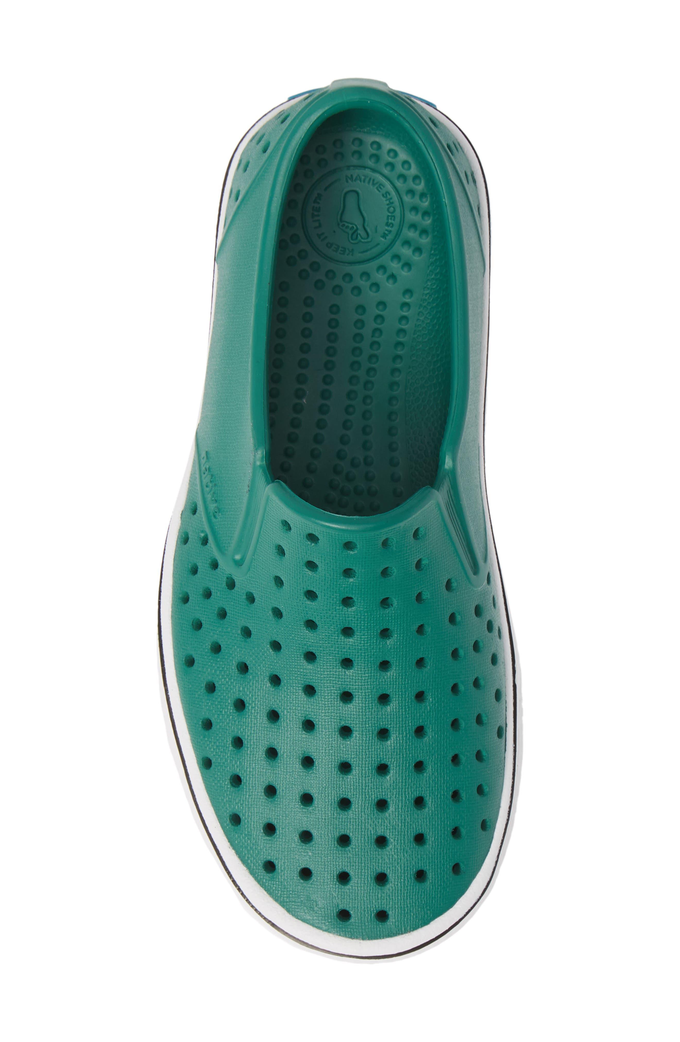 Miles Water Friendly Slip-On Vegan Sneaker,                             Alternate thumbnail 5, color,                             EVERGREEN/ SHELL WHITE