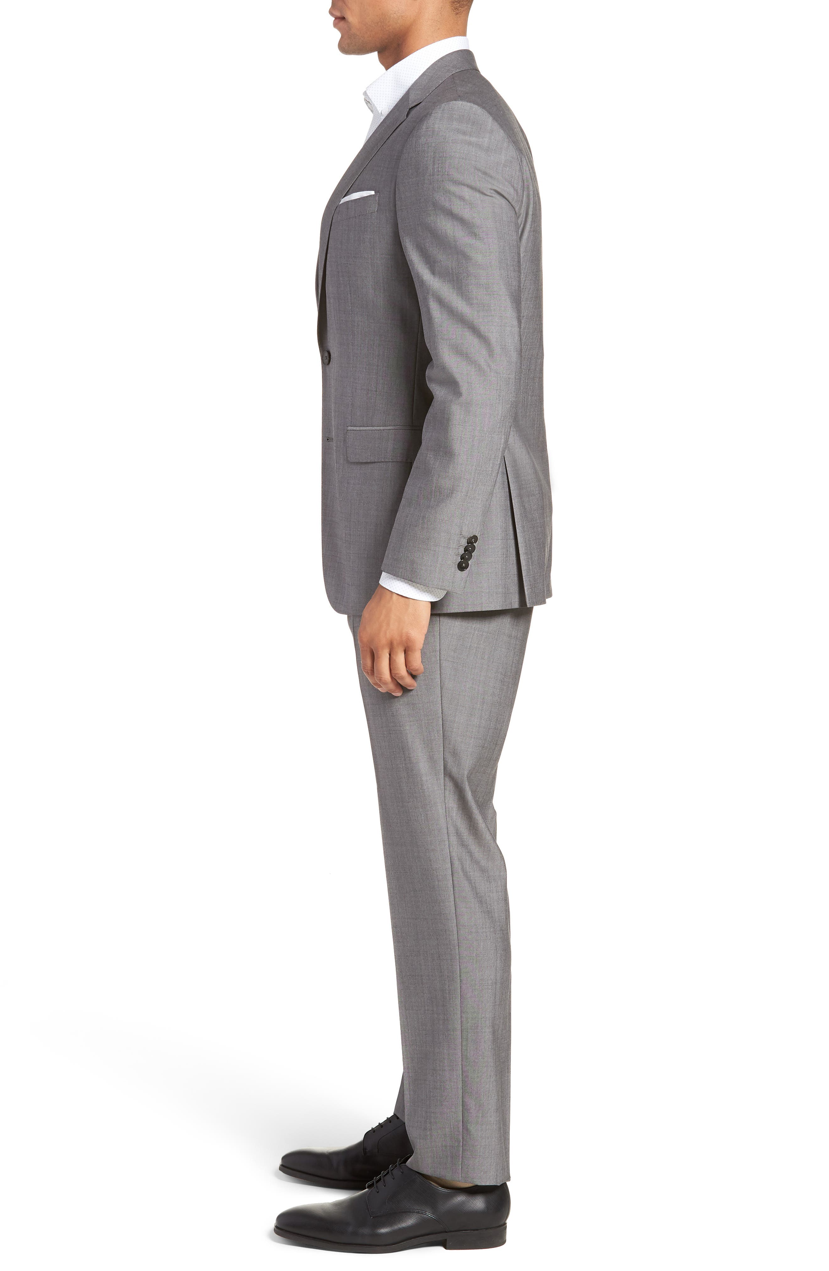 Novan/Ben Trim Fit Solid Wool Suit,                             Alternate thumbnail 3, color,                             069
