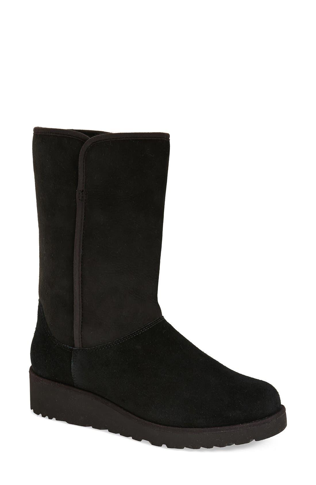 Ugg Amie - Classic Slim(TM) Water Resistant Short Boot, Black