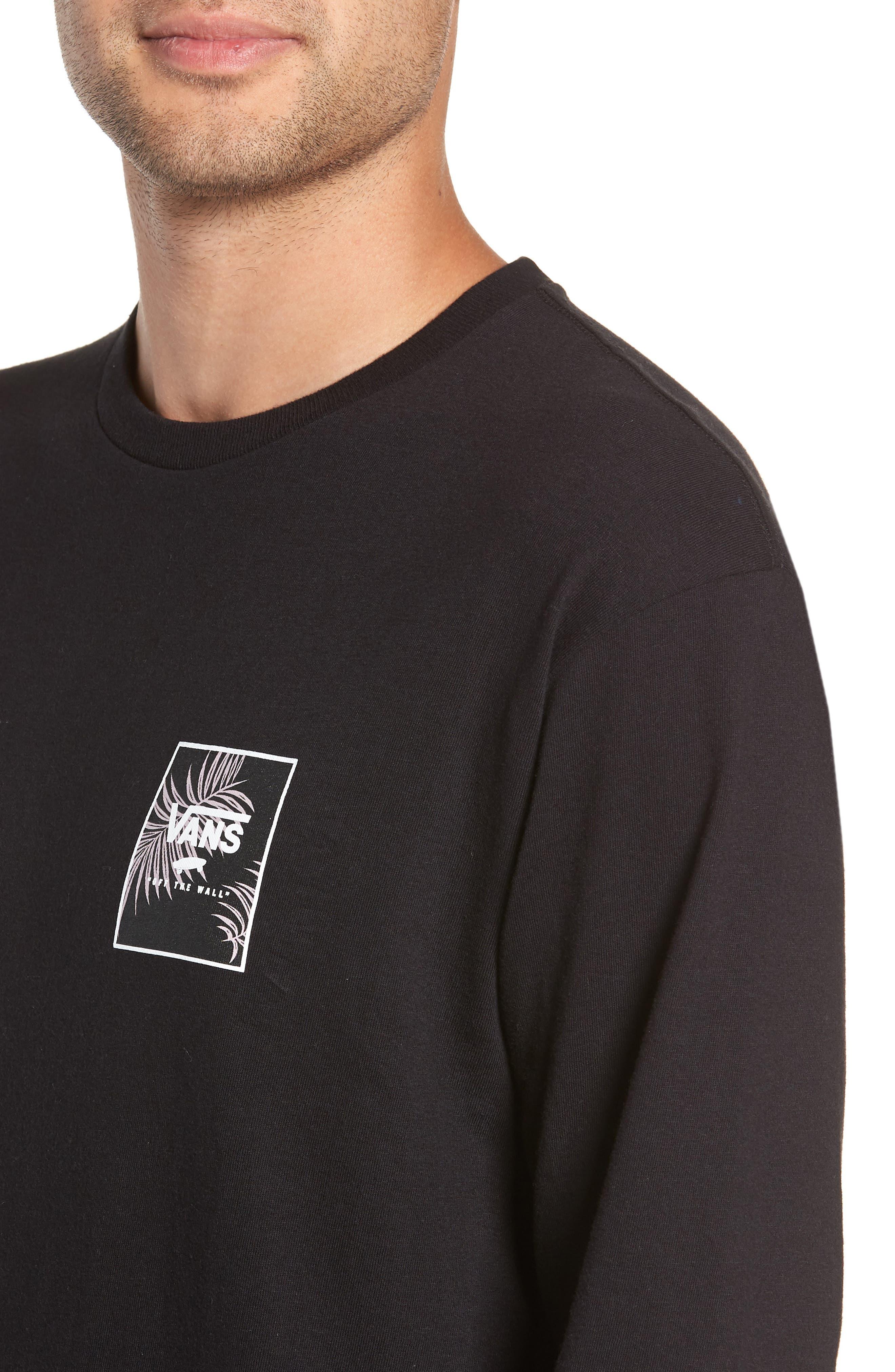 Print Box Long Sleeve Graphic T-Shirt,                             Alternate thumbnail 4, color,                             001