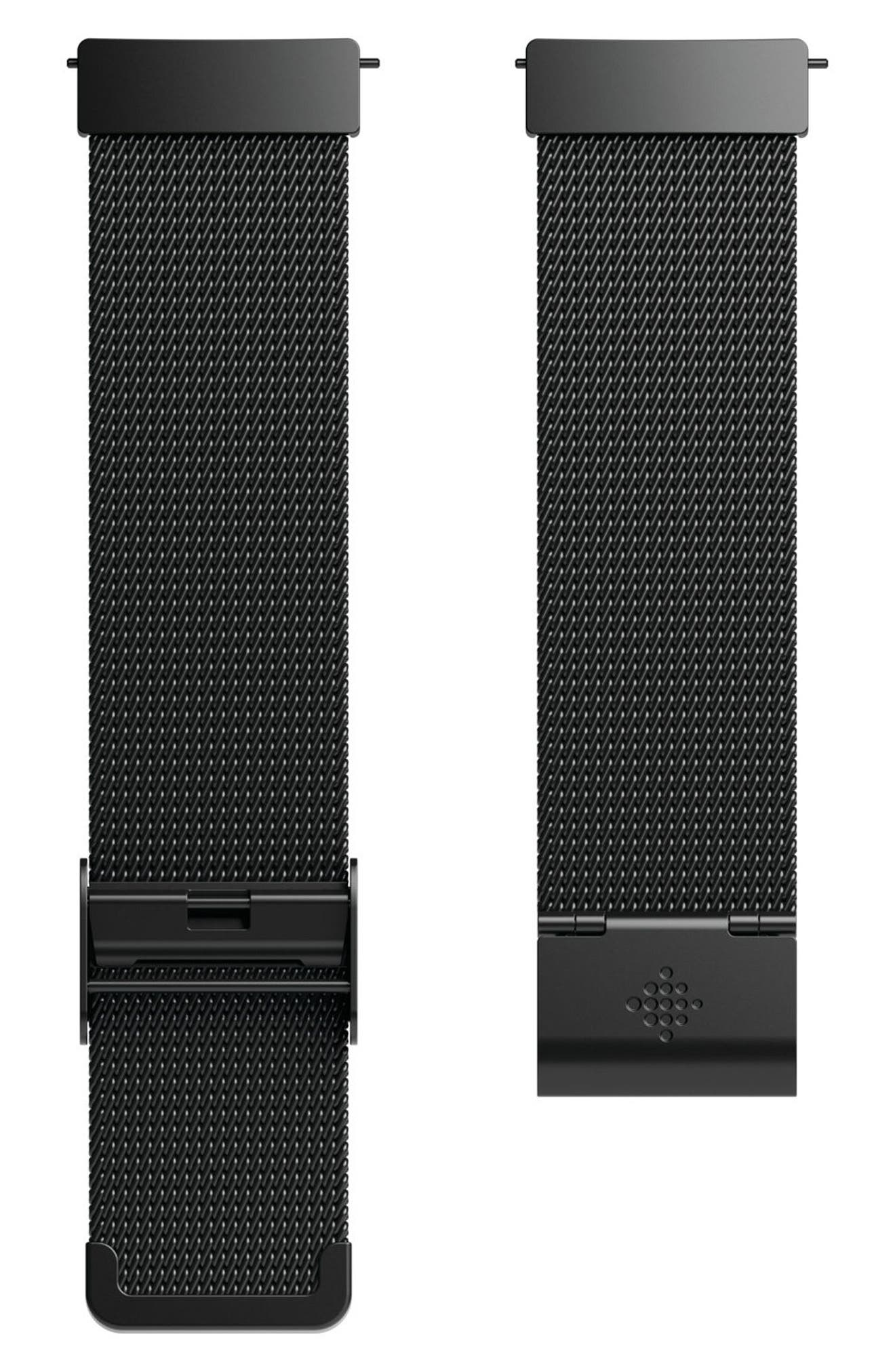 FITBIT Versa Mesh Strap Watch Band, Main, color, 001