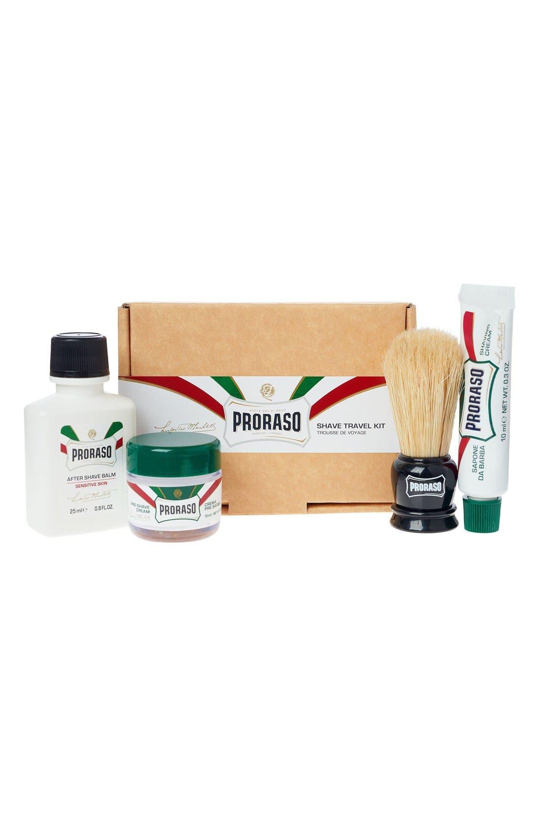 Proraso Shave Travel Kit,                             Main thumbnail 1, color,                             000