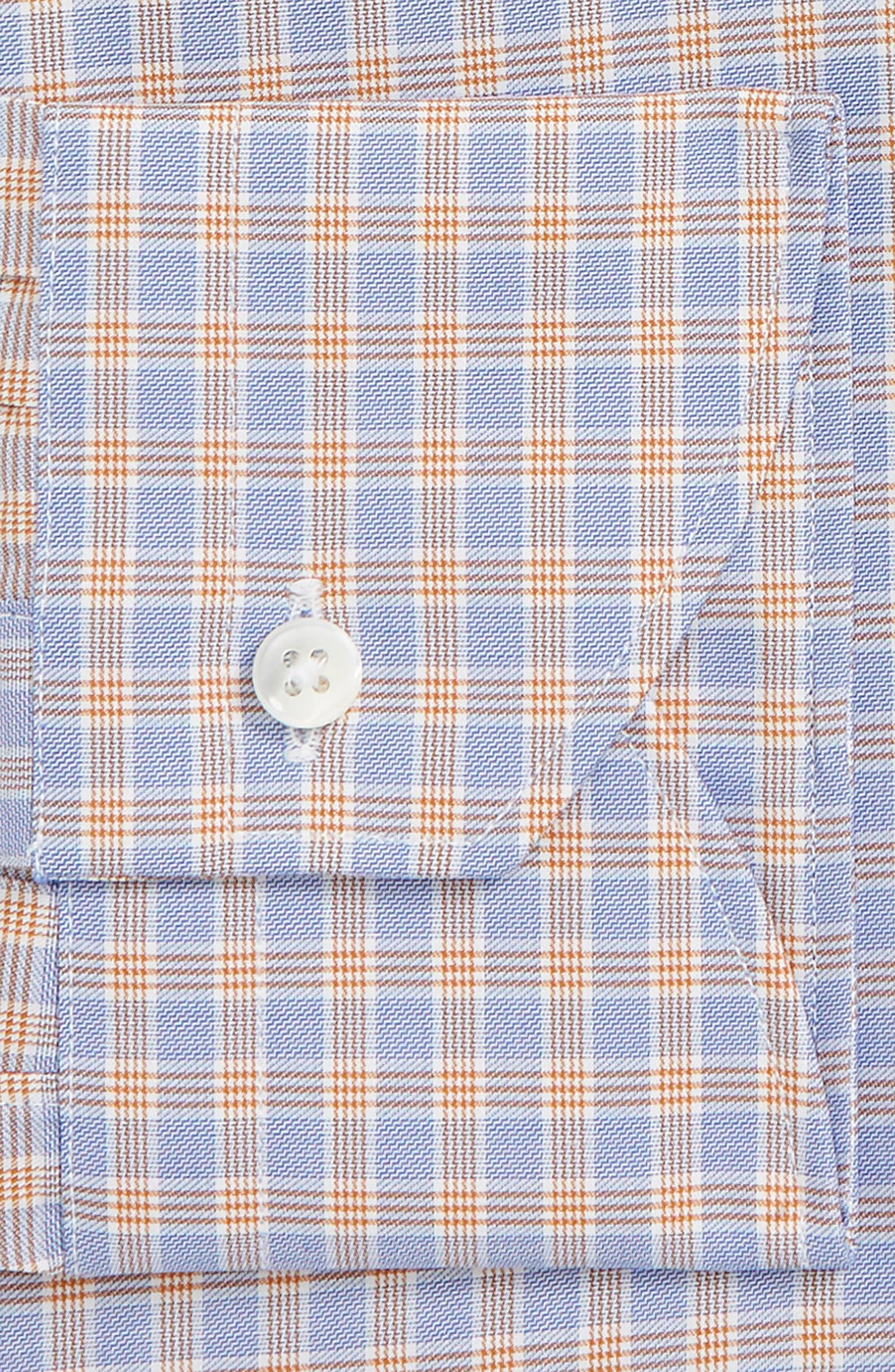 Trim Fit Check Dress Shirt,                             Alternate thumbnail 2, color,                             800
