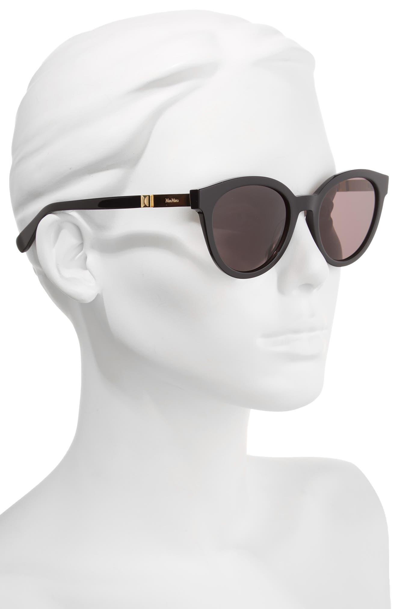Gemini 52mm Cat Eye Sunglasses,                             Alternate thumbnail 2, color,                             001
