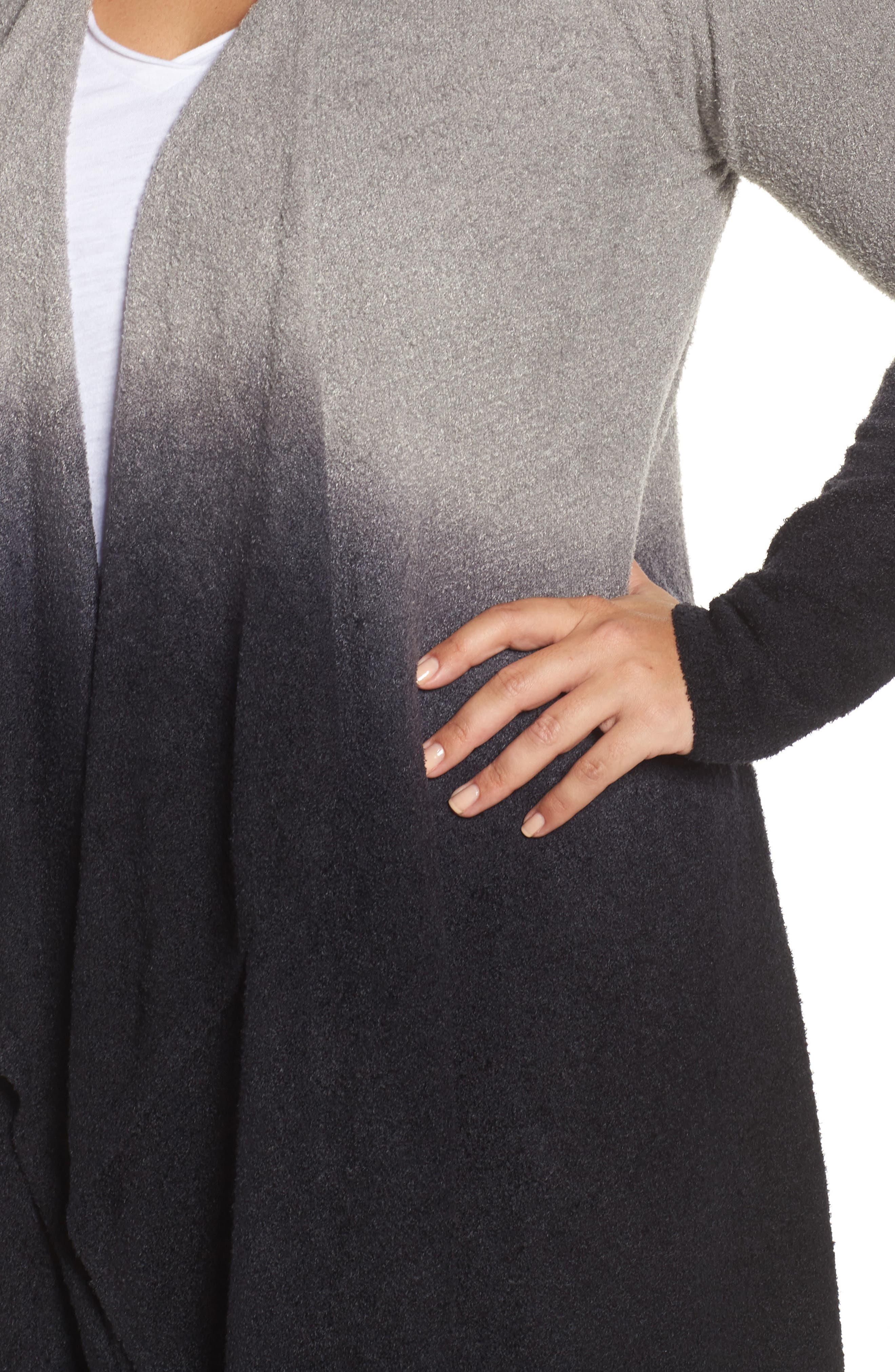CozyChic Lite<sup>®</sup> Calypso Wrap Cardigan,                             Alternate thumbnail 4, color,                             PEWTER MIDNIGHT OMBRE