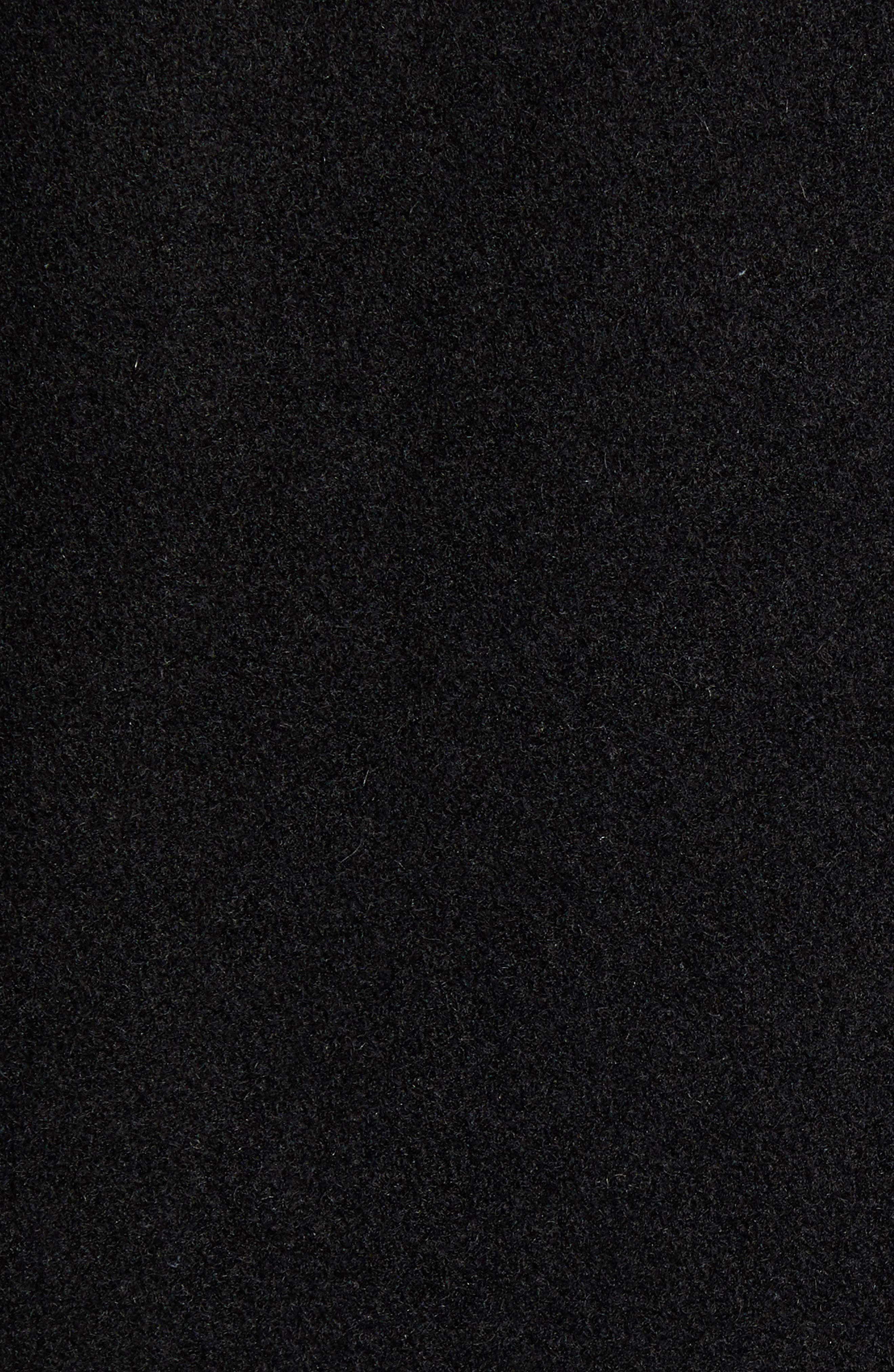 Layered Wool Blend Coat,                             Alternate thumbnail 7, color,                             BLACK