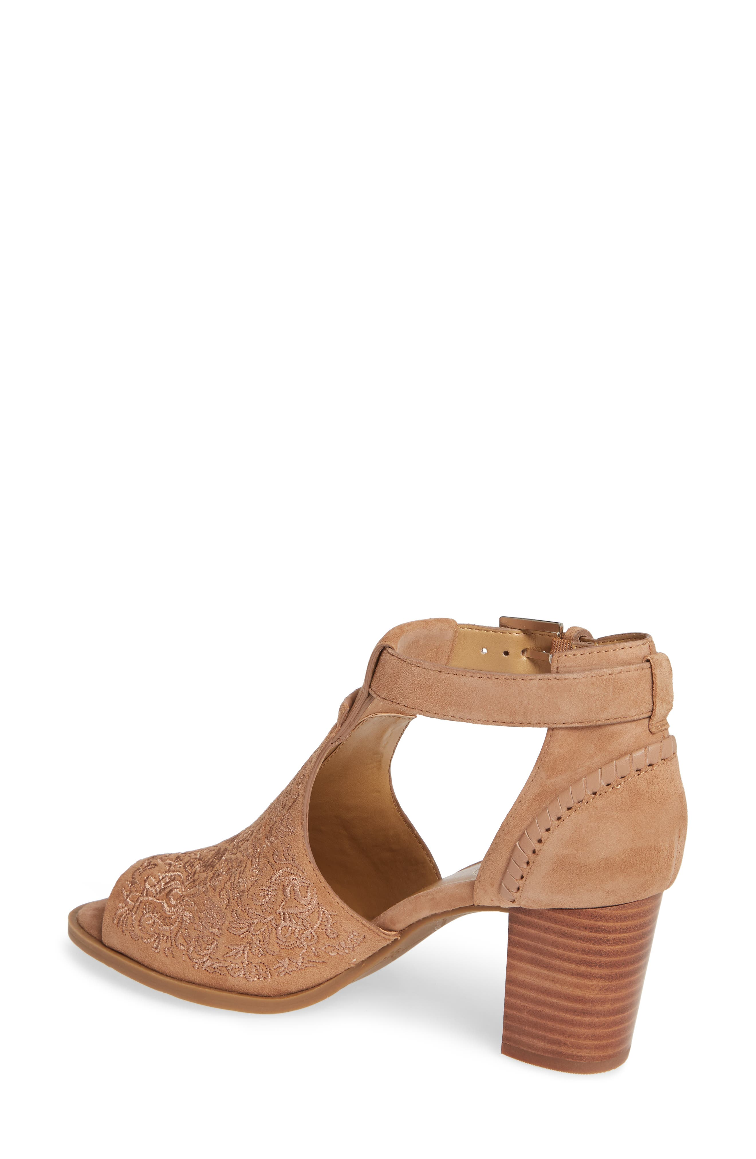 Cameron Block Heel Sandal,                             Alternate thumbnail 2, color,                             BROWN SUEDE