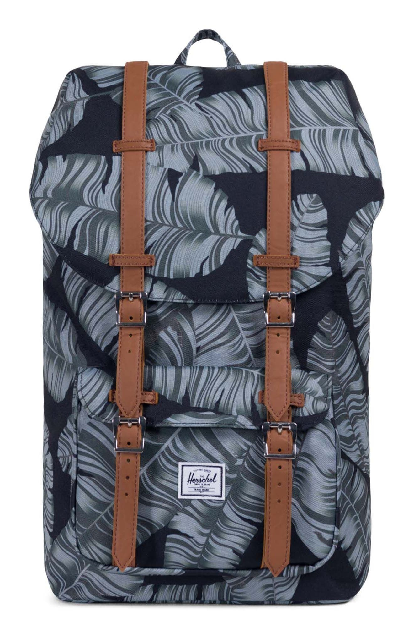 Little America Palm Print Backpack,                         Main,                         color, 300