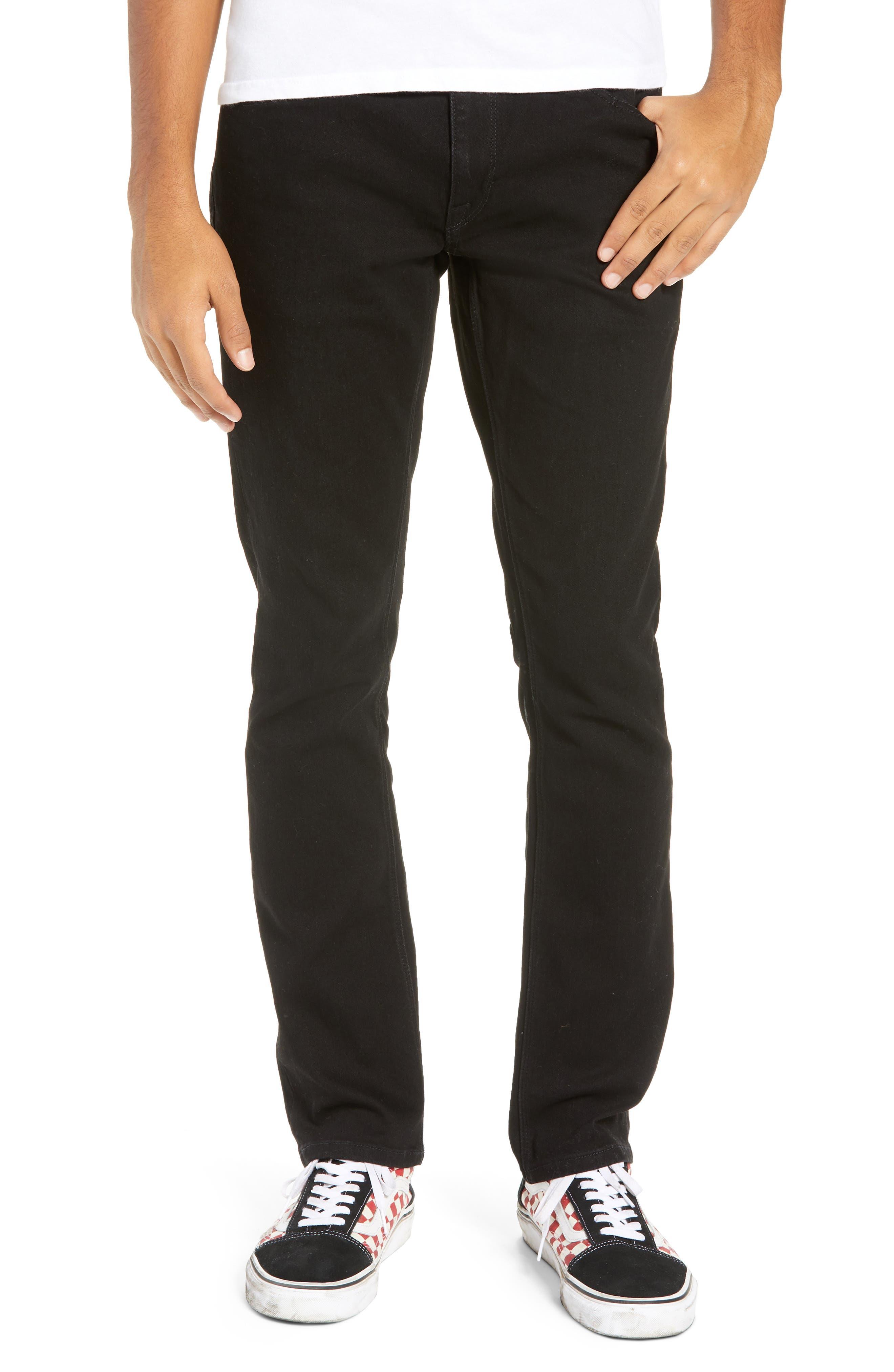 'Vorta' Slim Fit Jeans,                             Main thumbnail 1, color,                             BLACK OUT