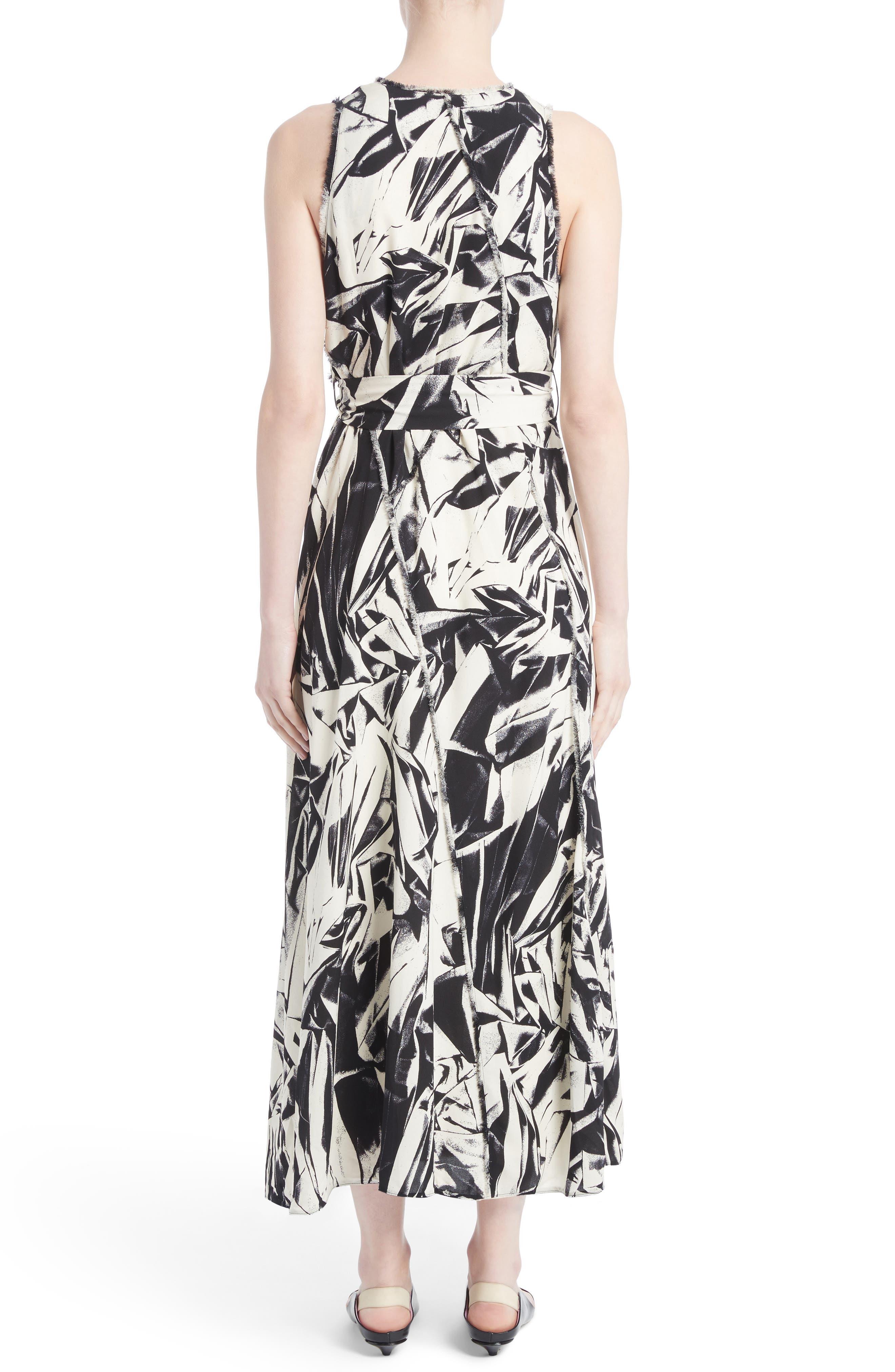 Print Silk Georgette Maxi Dress,                             Alternate thumbnail 2, color,                             001