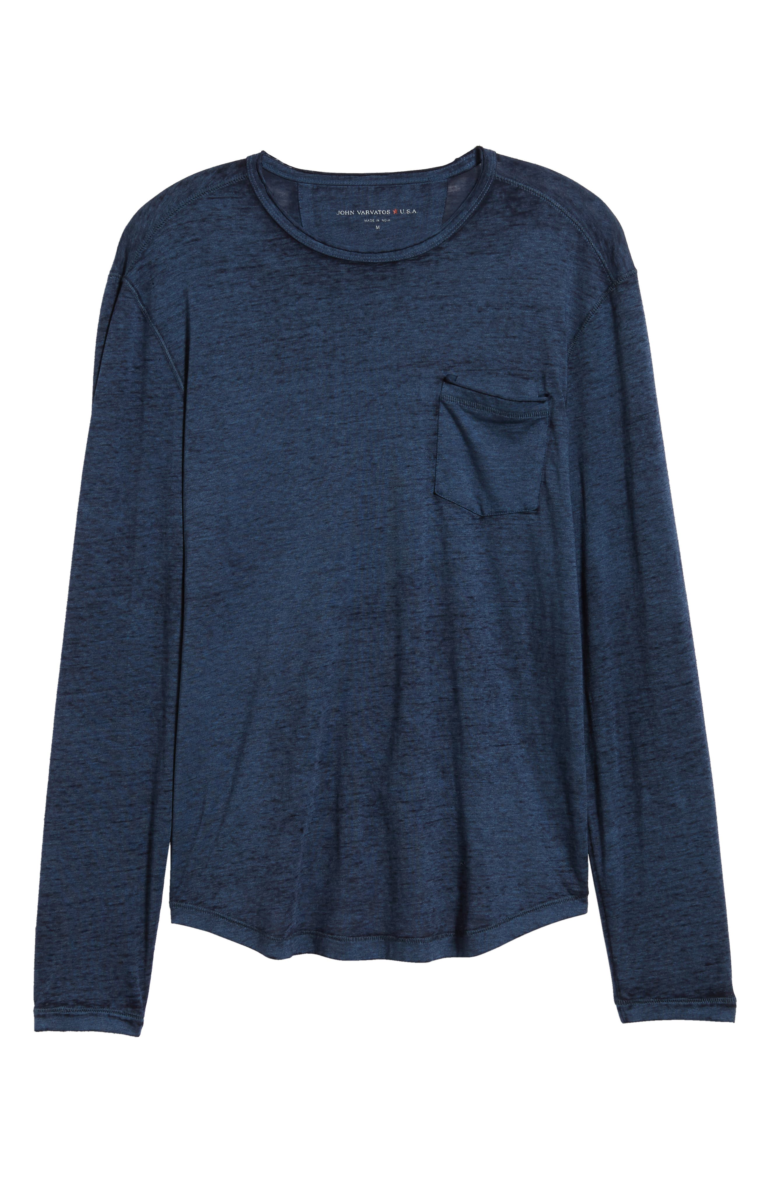 Burnout Long Sleeve T-Shirt,                             Alternate thumbnail 6, color,                             410