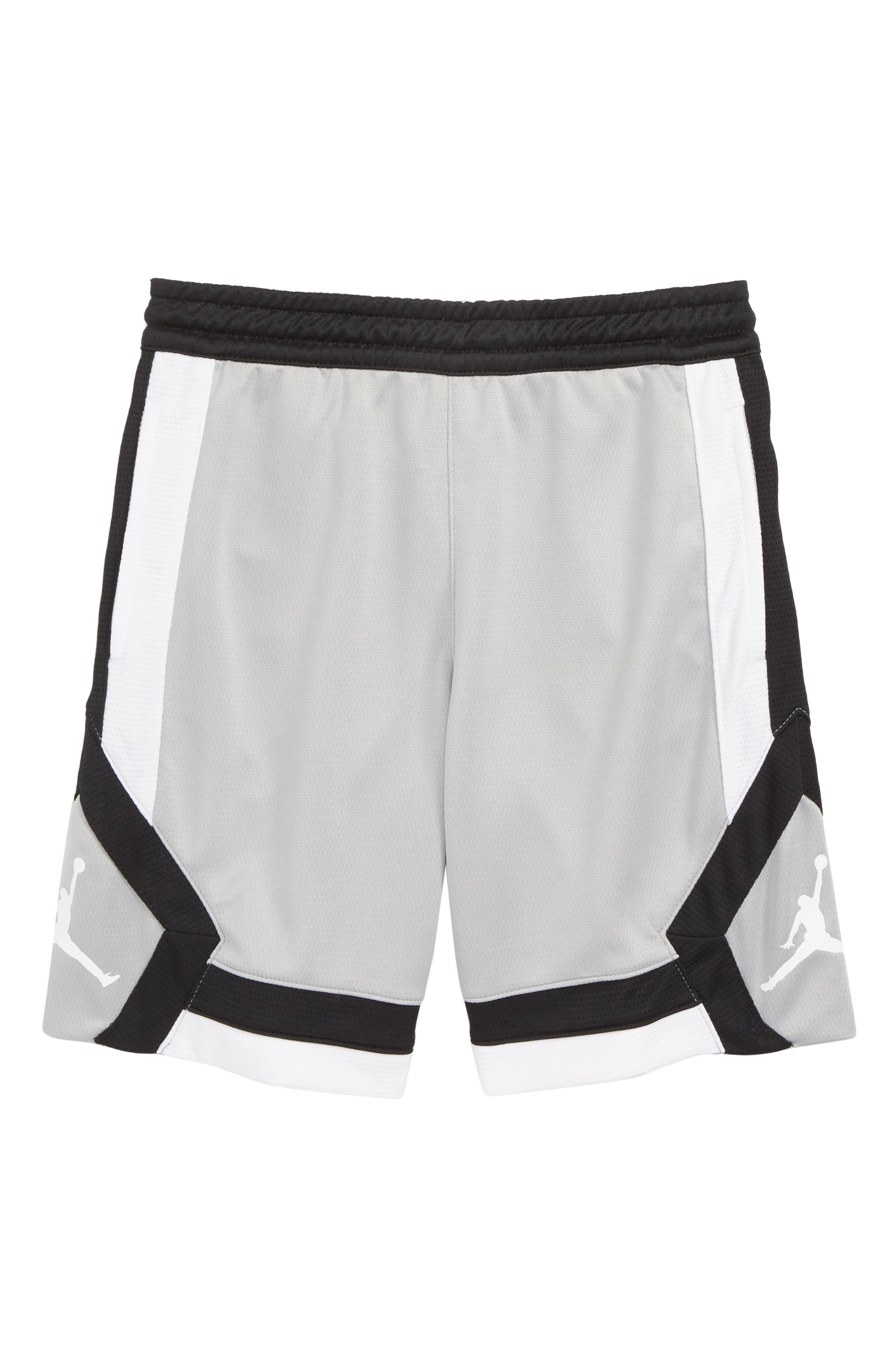 Jordan Rise Athletic Shorts,                             Main thumbnail 1, color,                             LIGHT SMOKE GREY