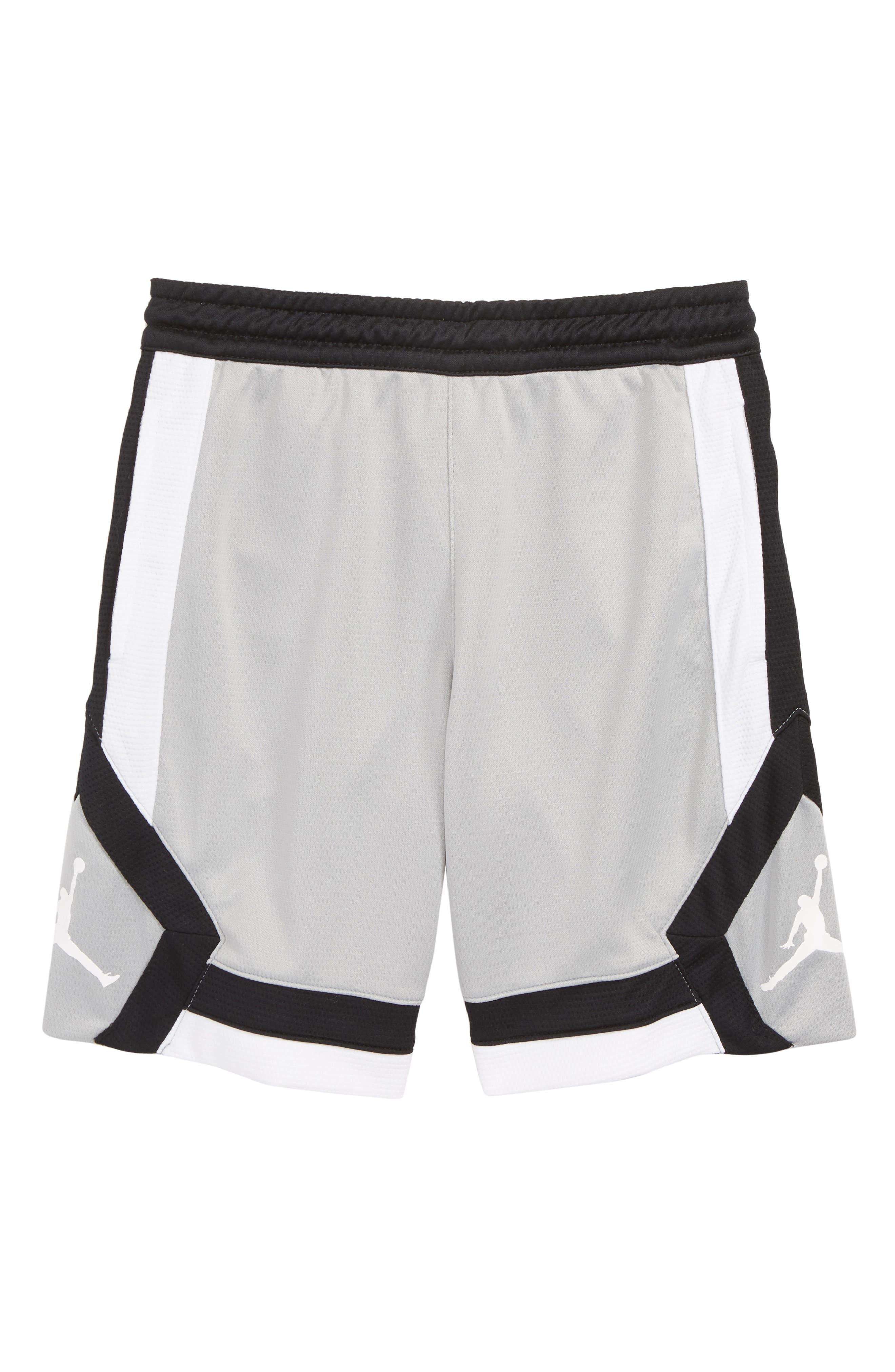 Jordan Rise Athletic Shorts,                         Main,                         color, LIGHT SMOKE GREY