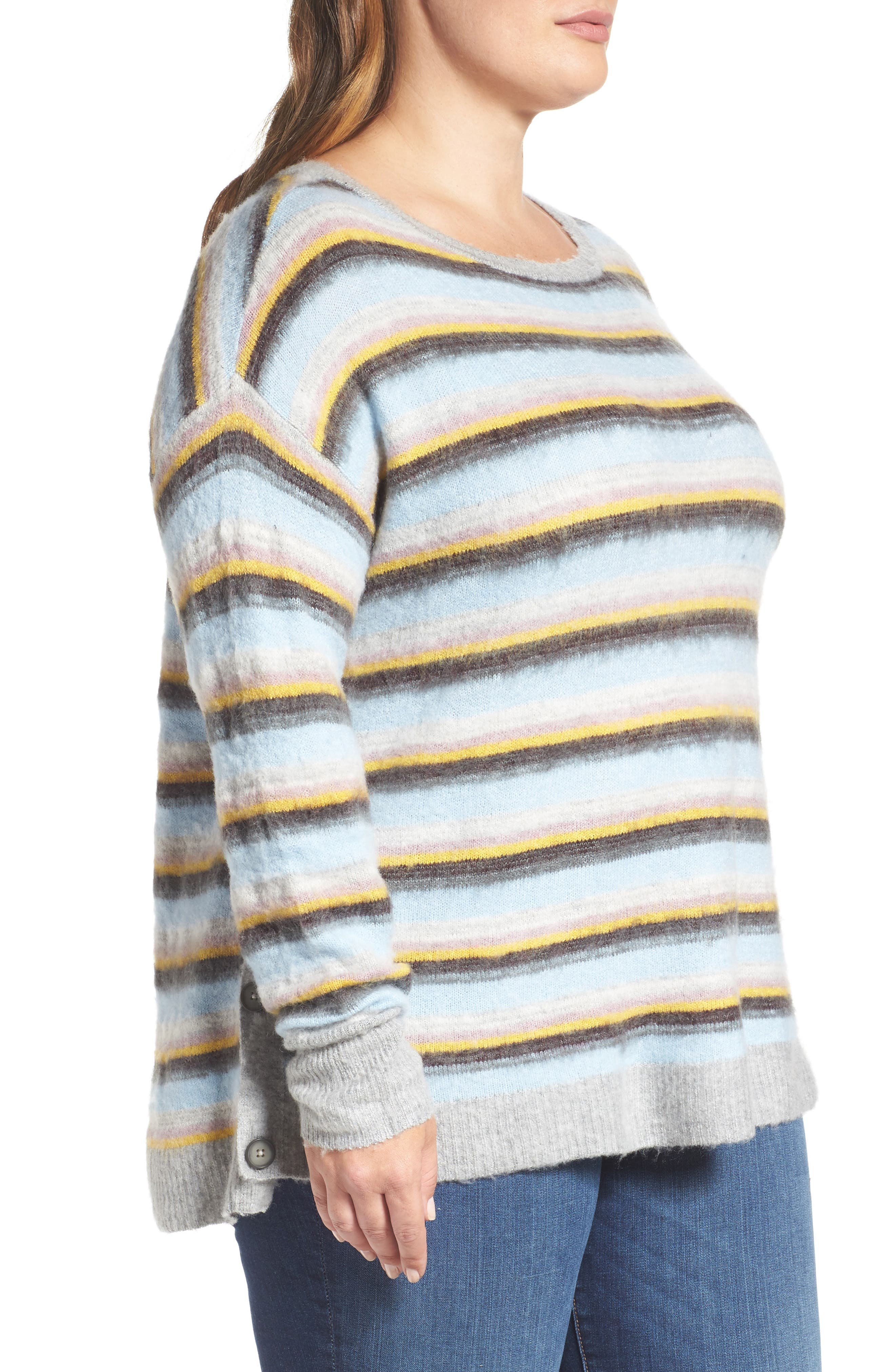 Side Button Sweater,                             Alternate thumbnail 3, color,                             030