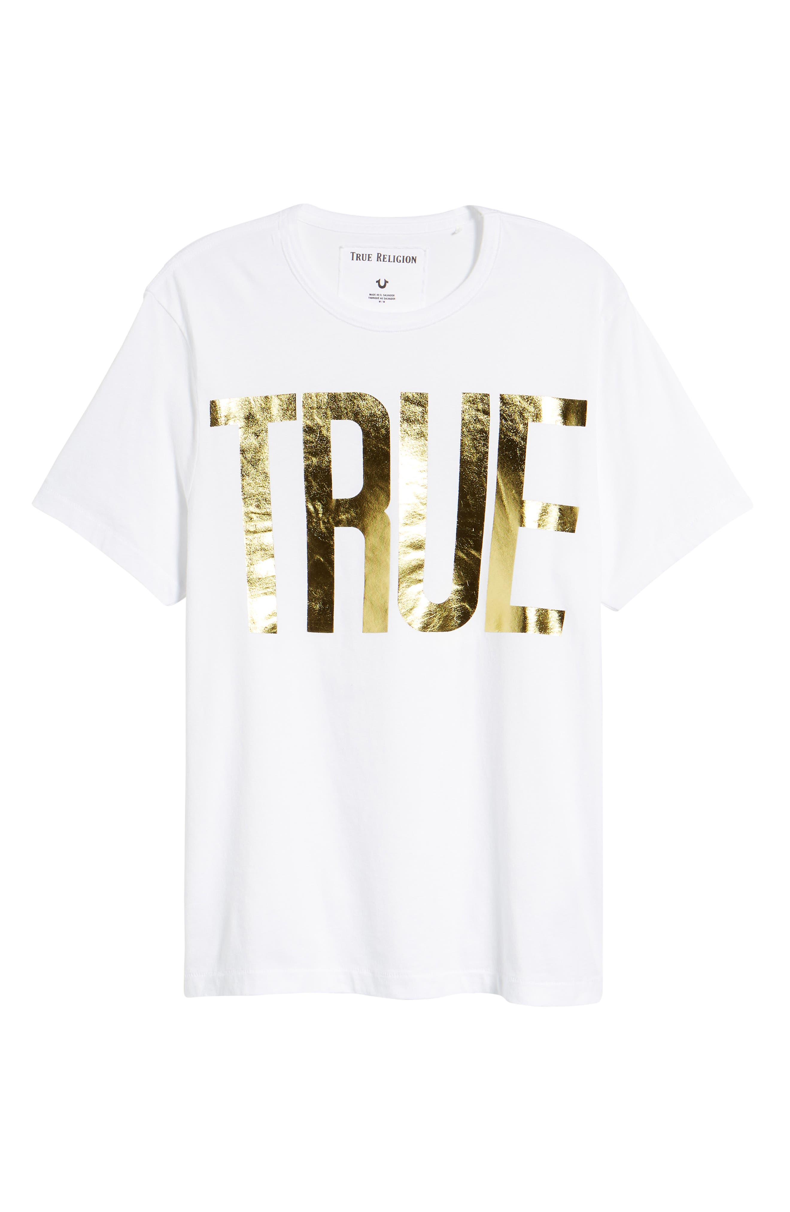 Gold Foil Logo T-Shirt,                             Alternate thumbnail 12, color,
