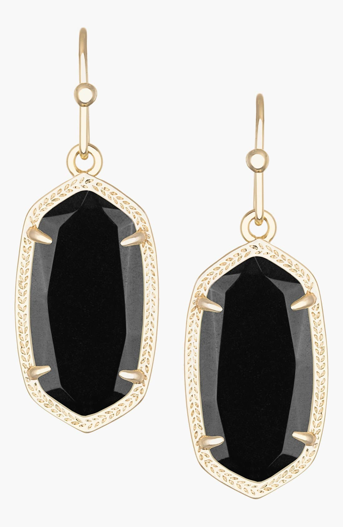 Dani Stone Drop Earrings,                             Main thumbnail 1, color,                             001