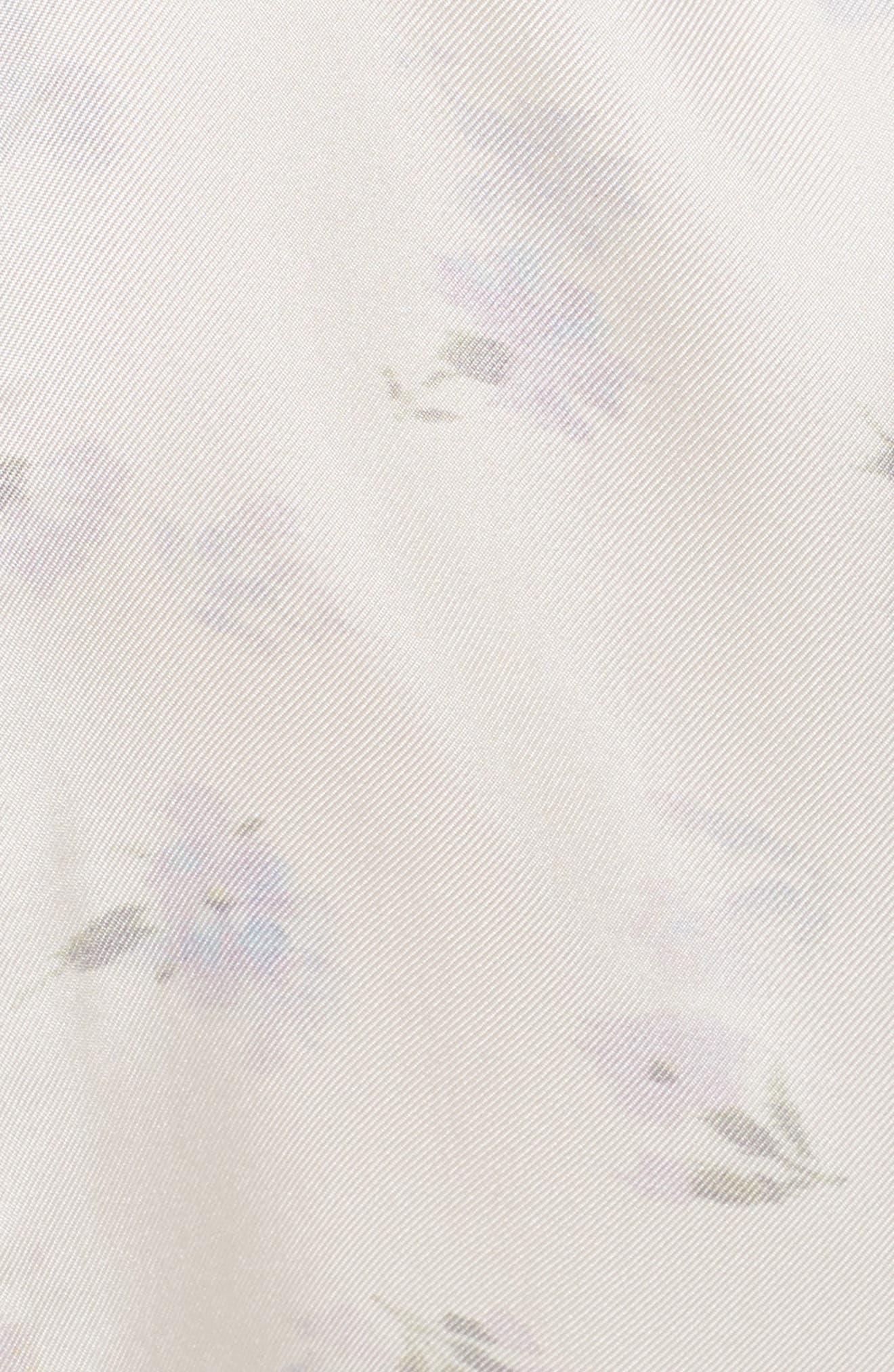 Ophelie Print Silk Blouse,                             Alternate thumbnail 5, color,                             903