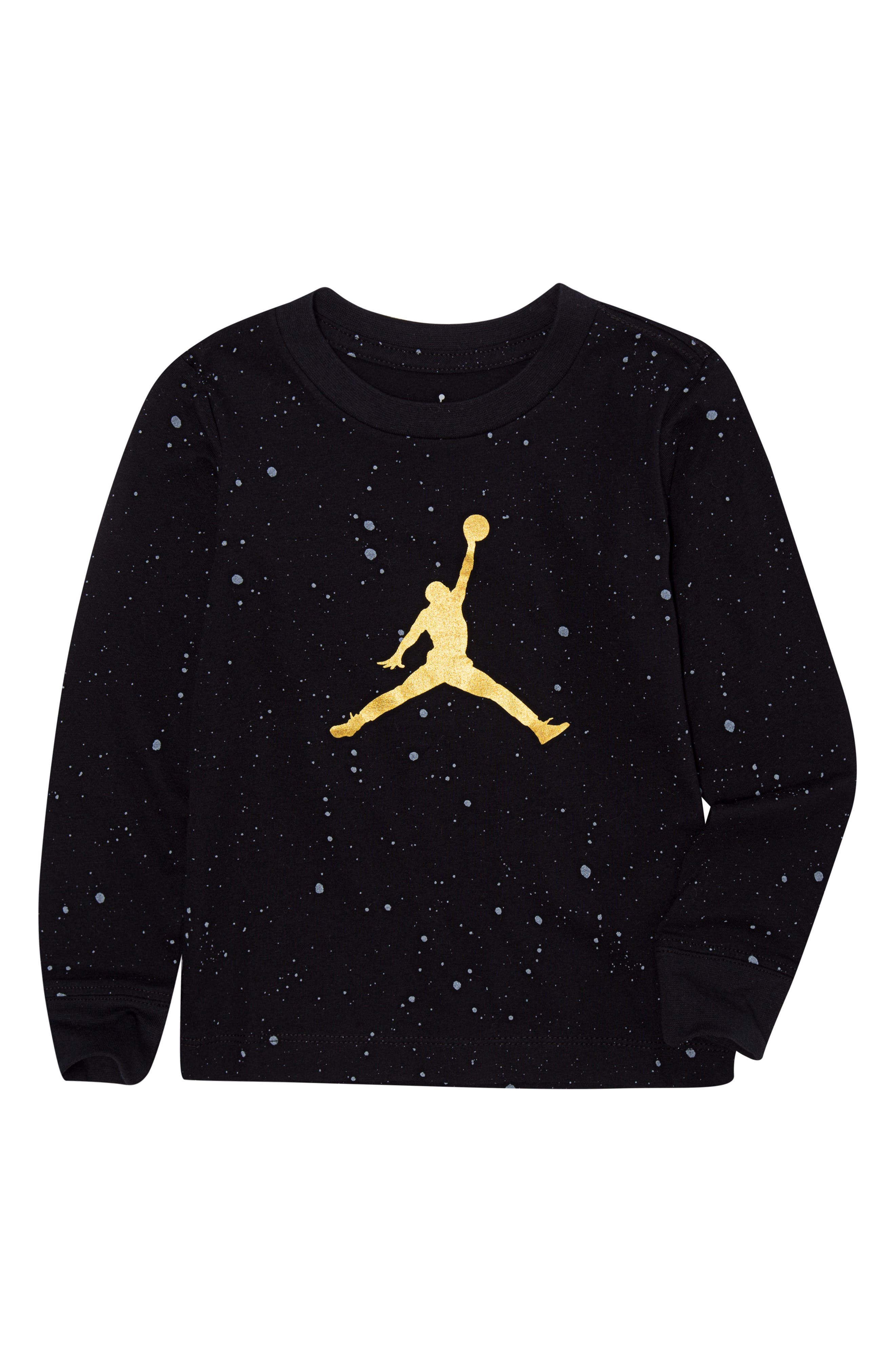 Jordan Jumpman Logo Speckle T-Shirt,                             Main thumbnail 1, color,                             BLACK