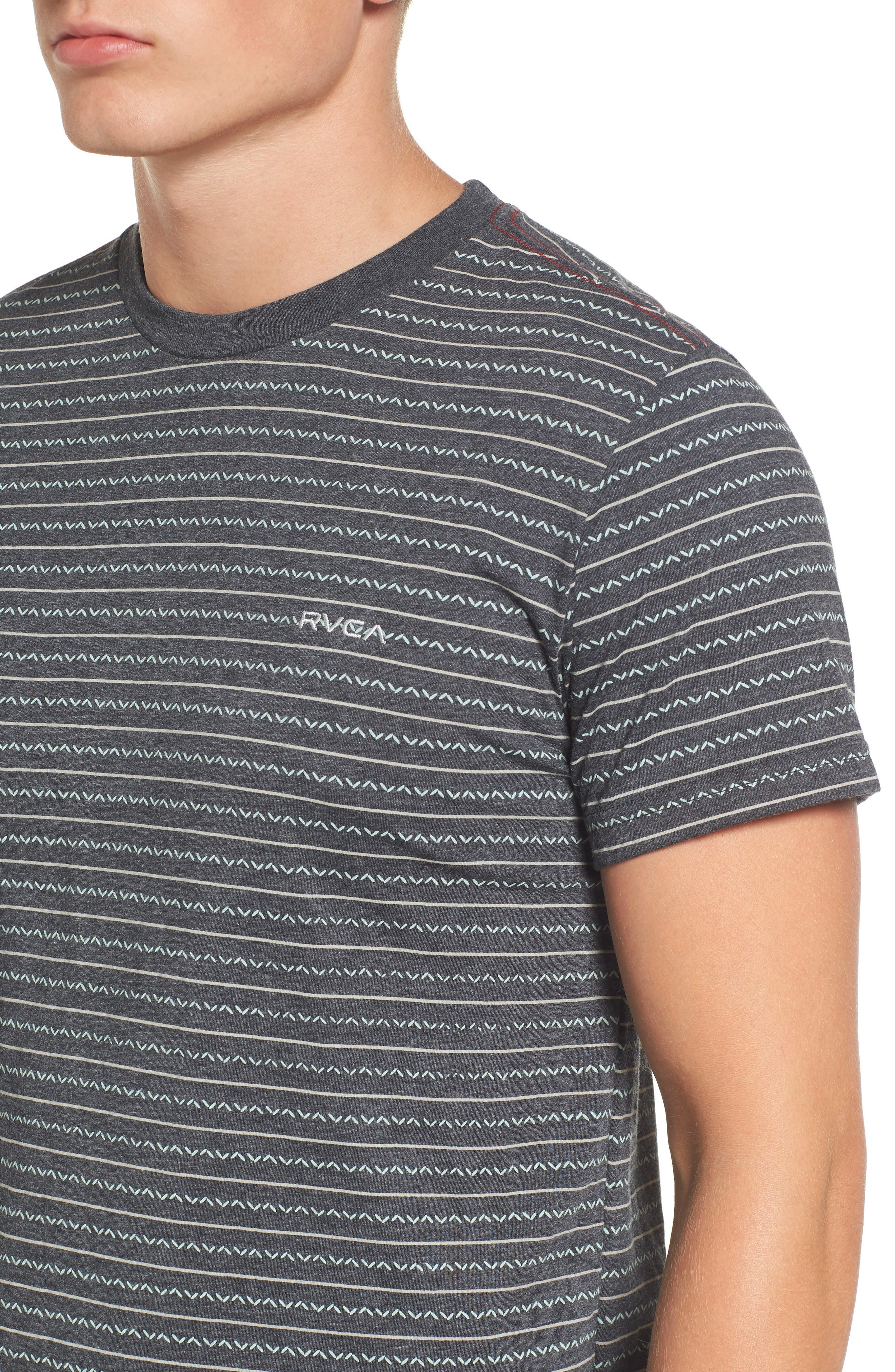 Chevron Stripe T-Shirt,                             Alternate thumbnail 7, color,