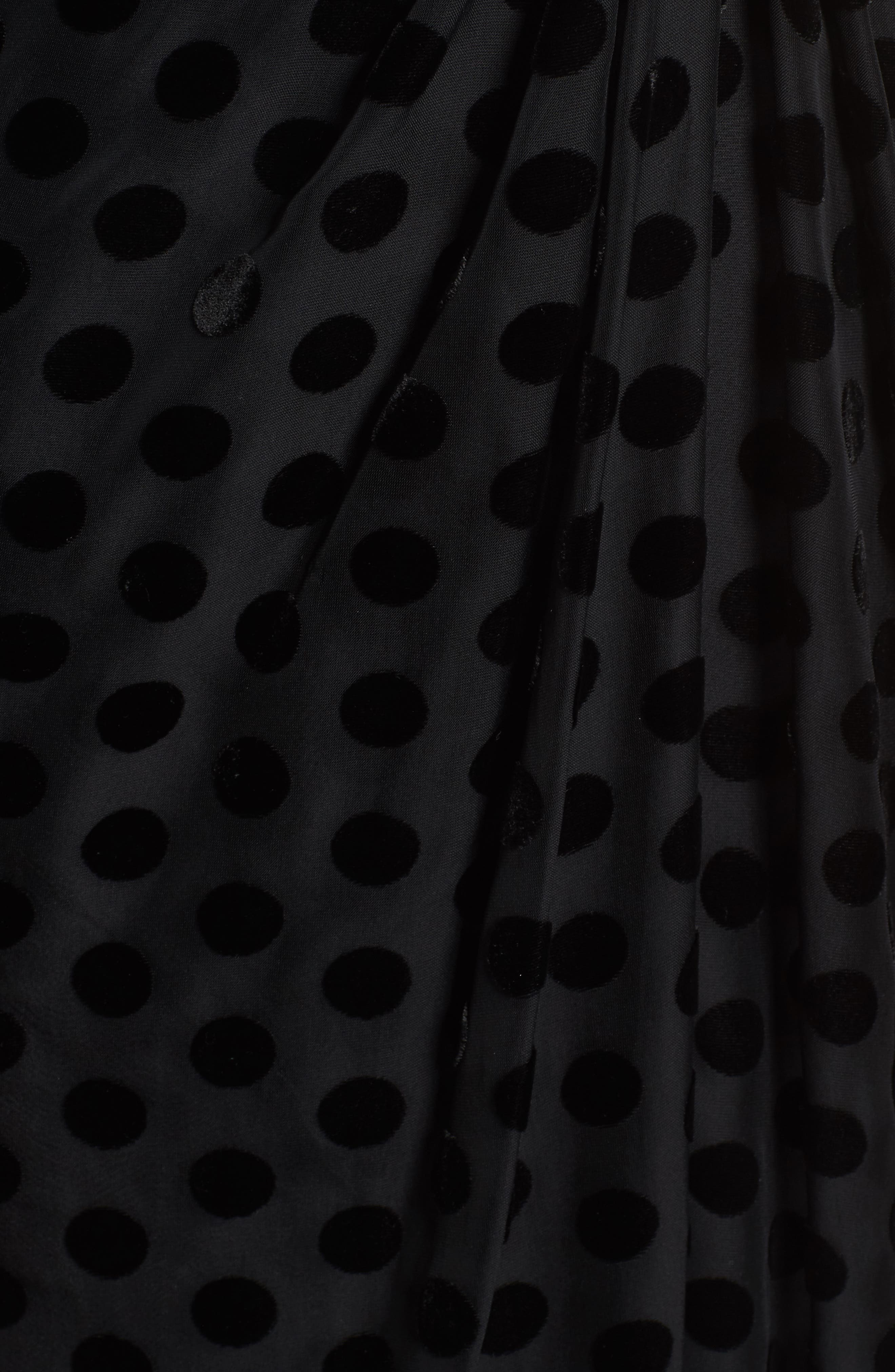 Exhale One Shoulder Polka Dot Dress,                             Alternate thumbnail 5, color,
