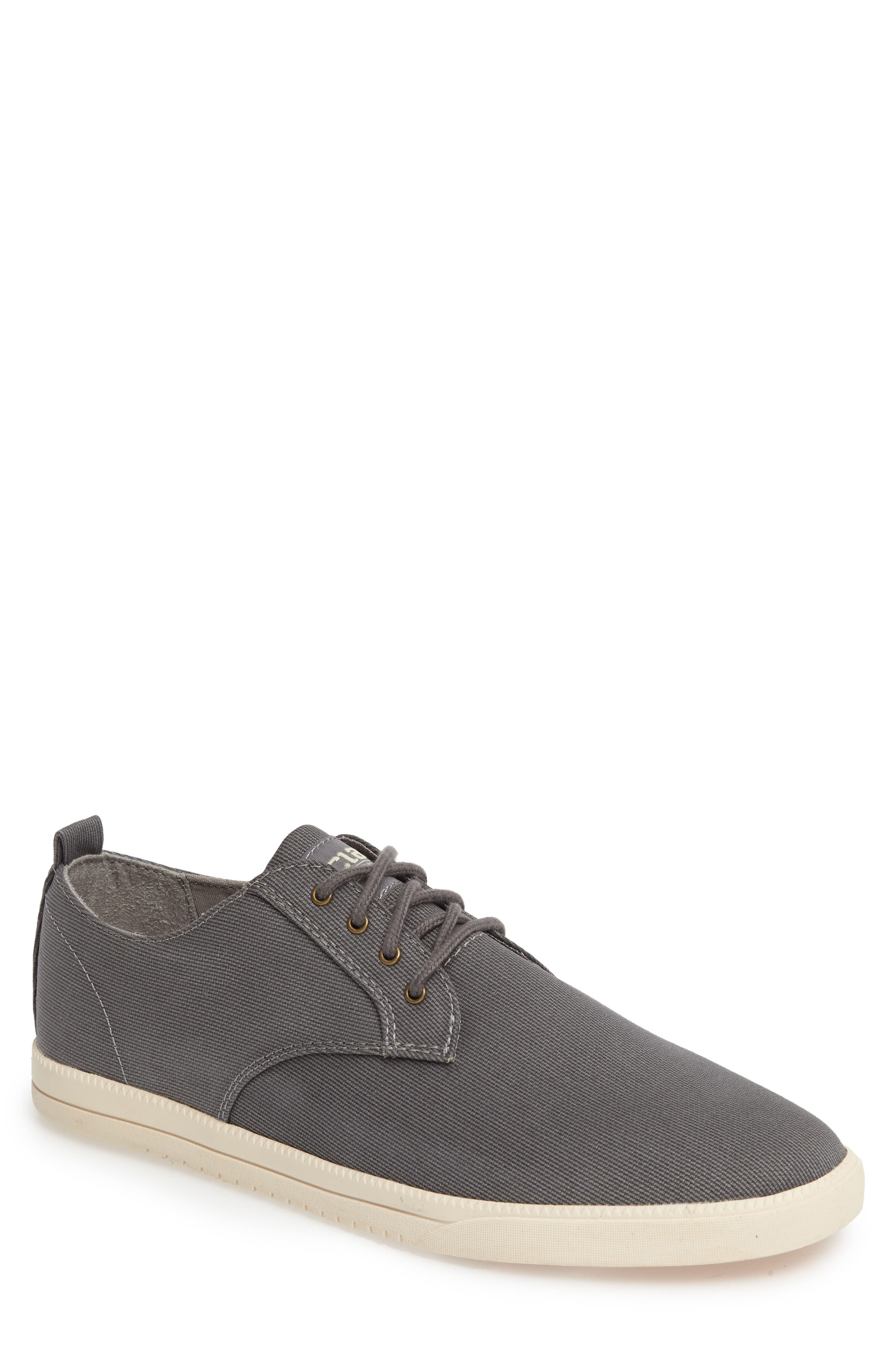 CLAE 'Ellington' Sneaker in Charcoal Textured Canvas