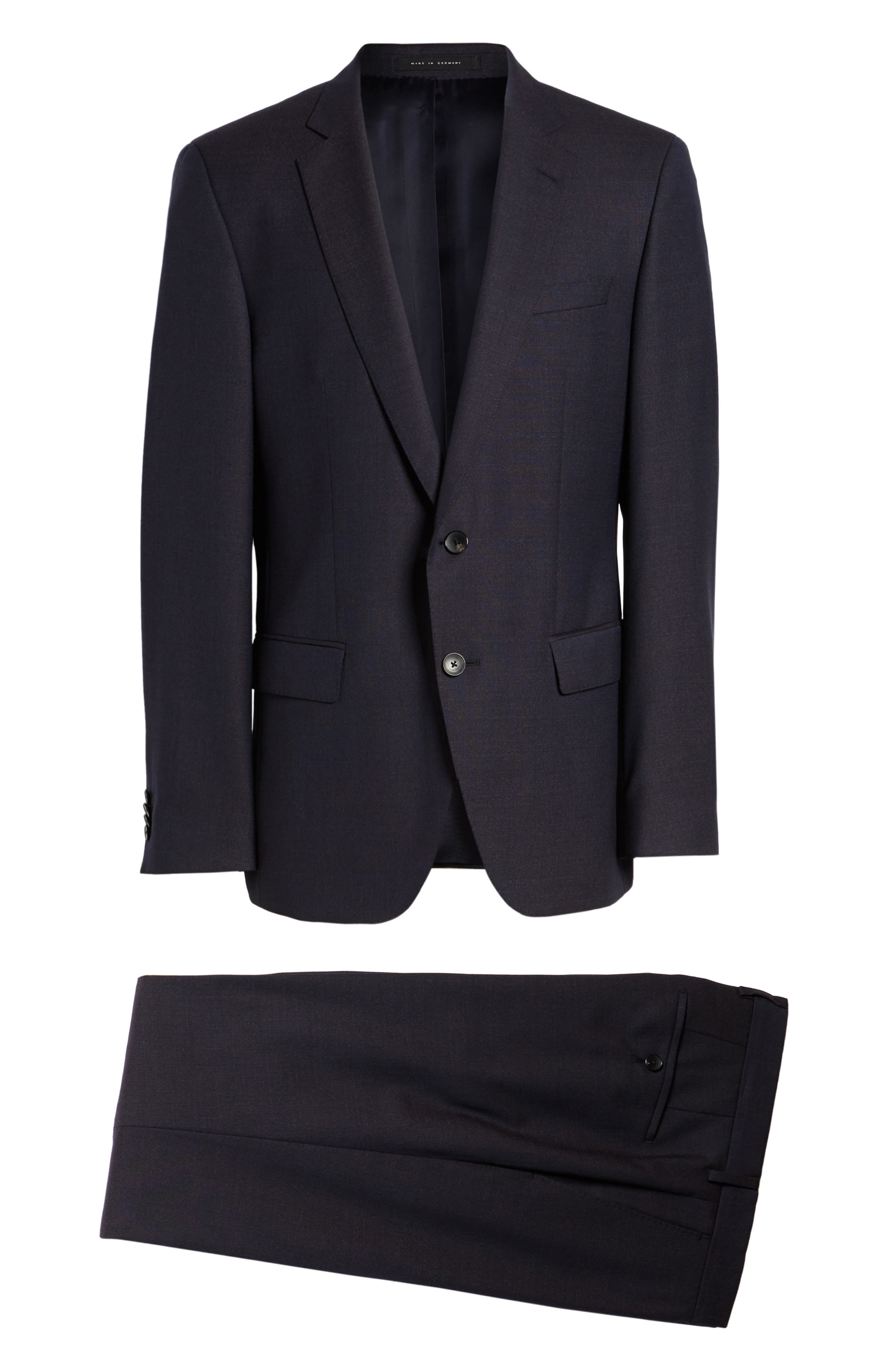 Huge/Genius Trim Fit Wool Suit,                             Alternate thumbnail 8, color,                             606