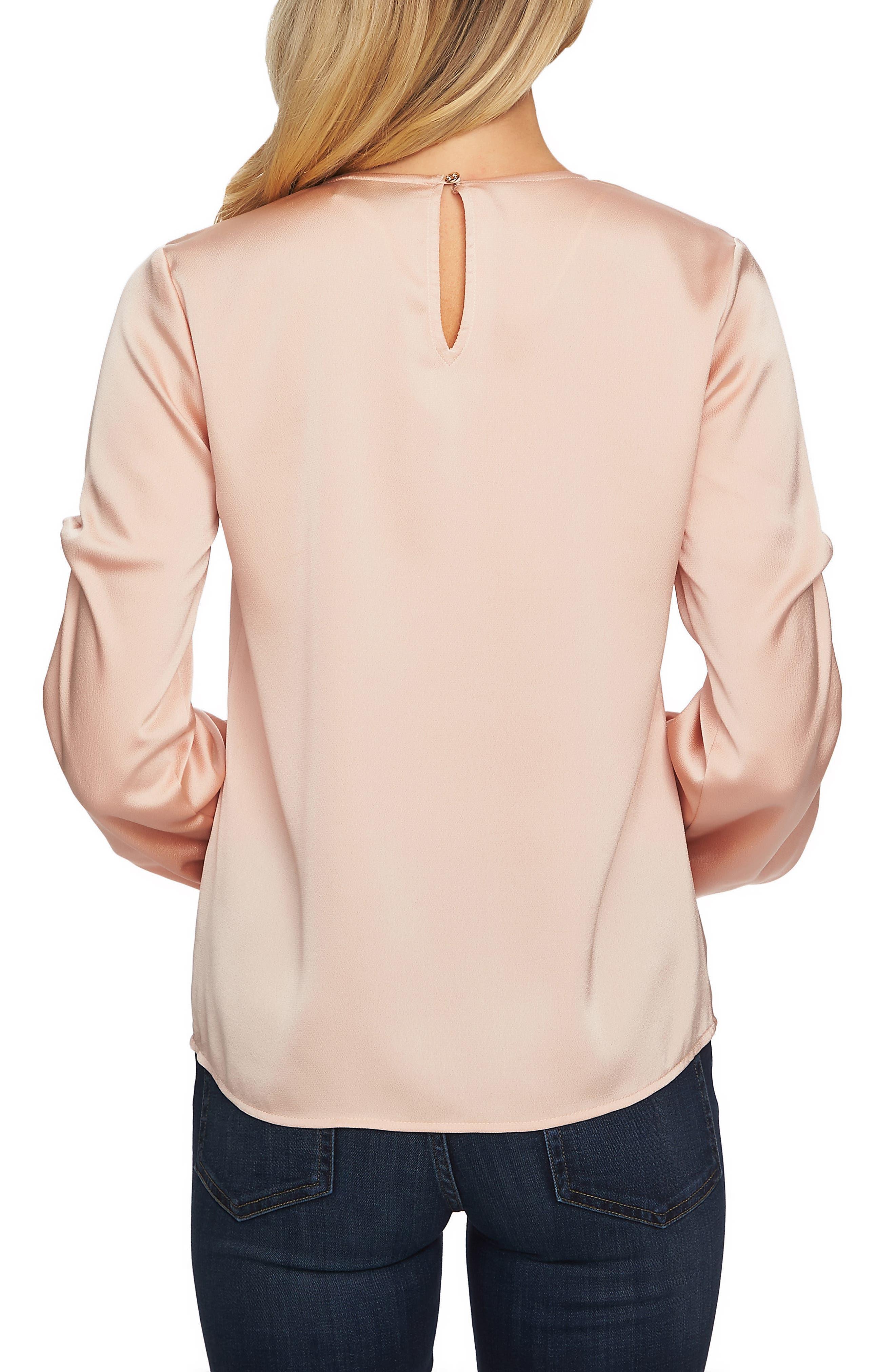 Drape Sleeve V-Neck Blouse,                             Alternate thumbnail 2, color,                             ROSE CLOUD